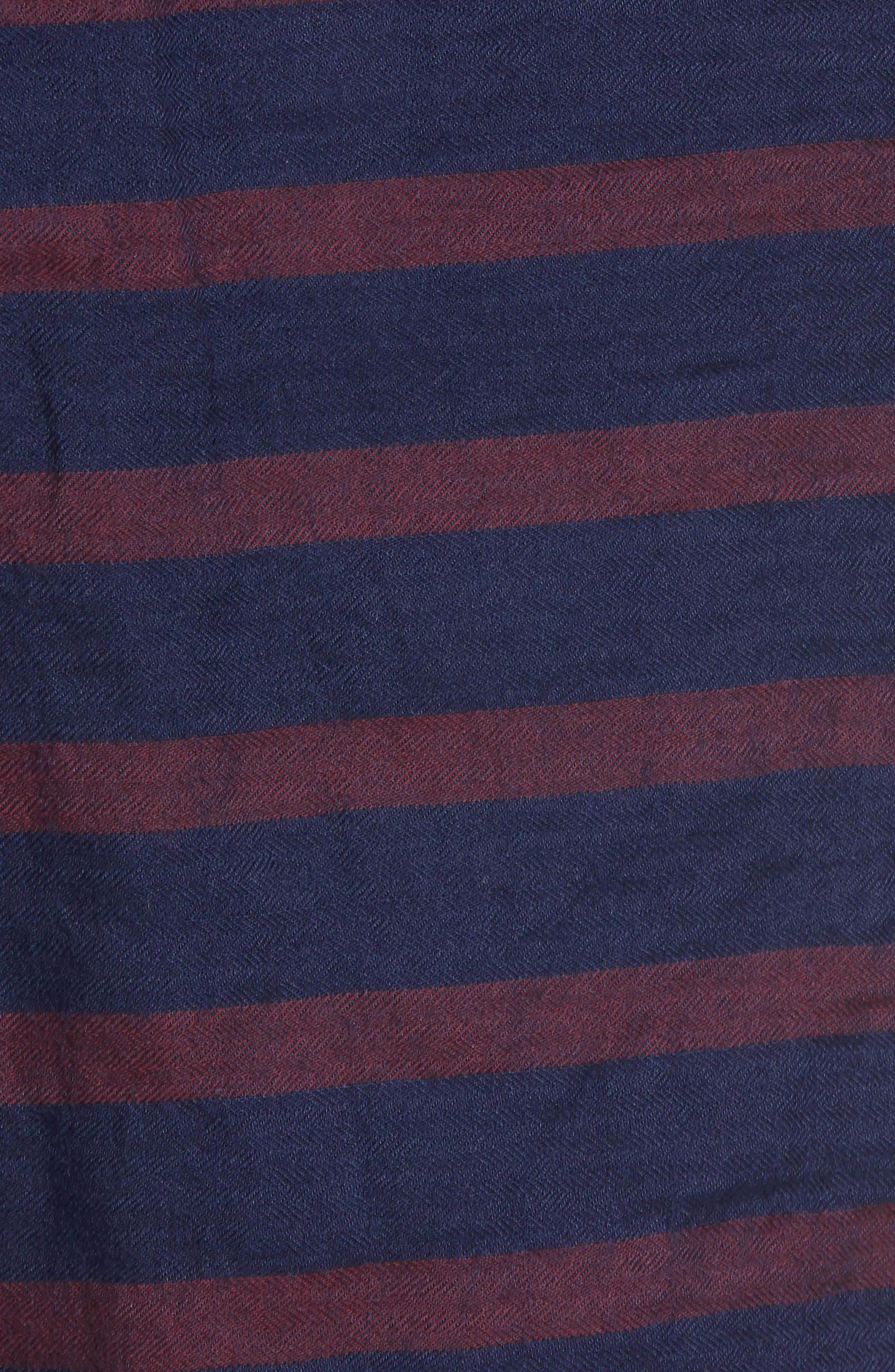 Morgan Stripe Bermuda Shorts,                             Alternate thumbnail 5, color,                             601