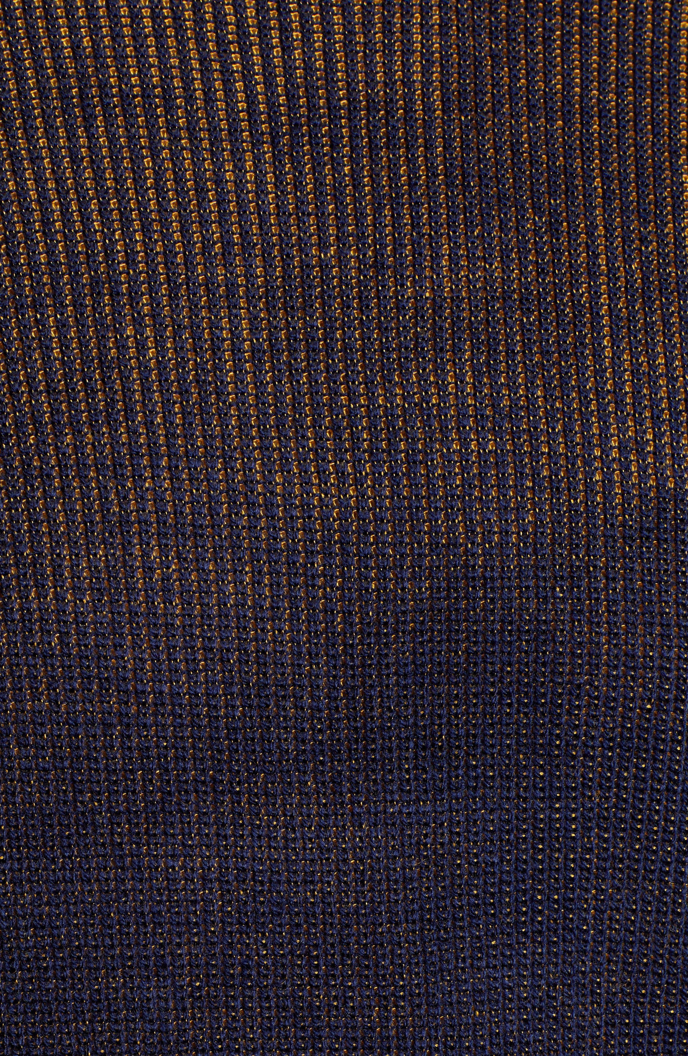 Plaited Crewneck Sweater,                             Alternate thumbnail 5, color,                             NAVY