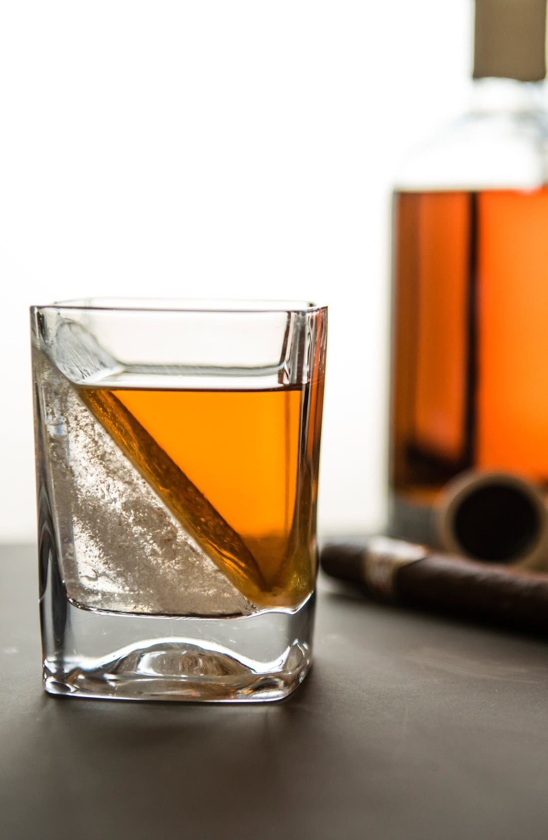 'Whiskey Wedge' Double Old-Fashioned Glass,                             Alternate thumbnail 2, color,