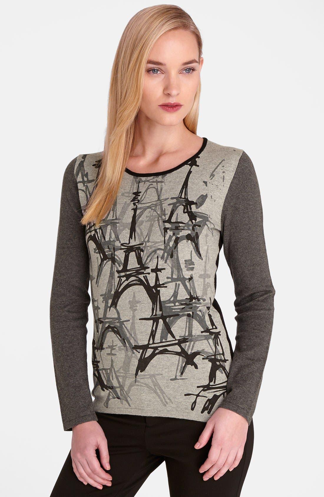 CATHERINE CATHERINE MALANDRINO 'Eiffel Tower' Sweater, Main, color, 445