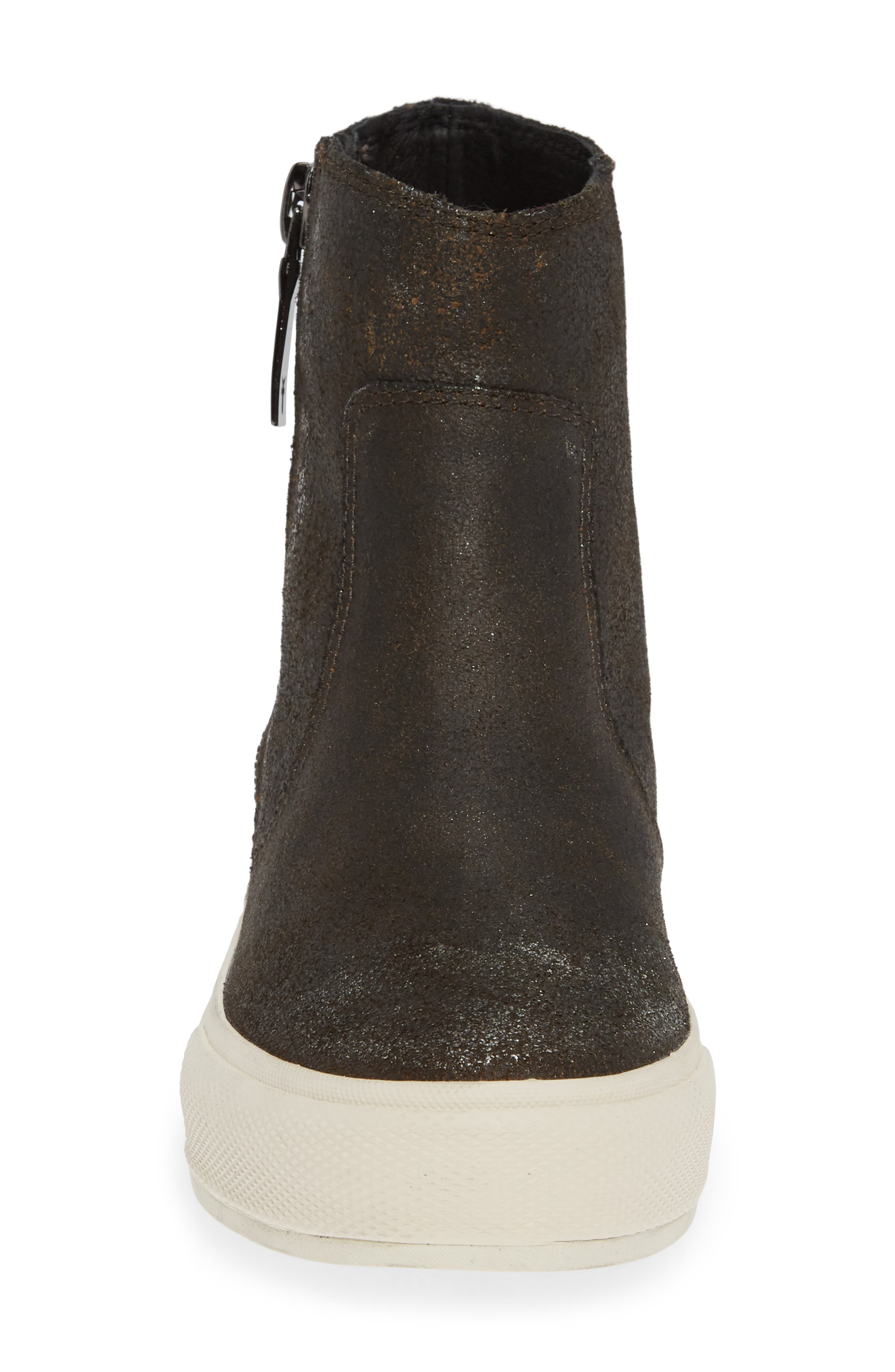 Gia Bootie,                             Alternate thumbnail 4, color,                             ANTHRACITE LEATHER