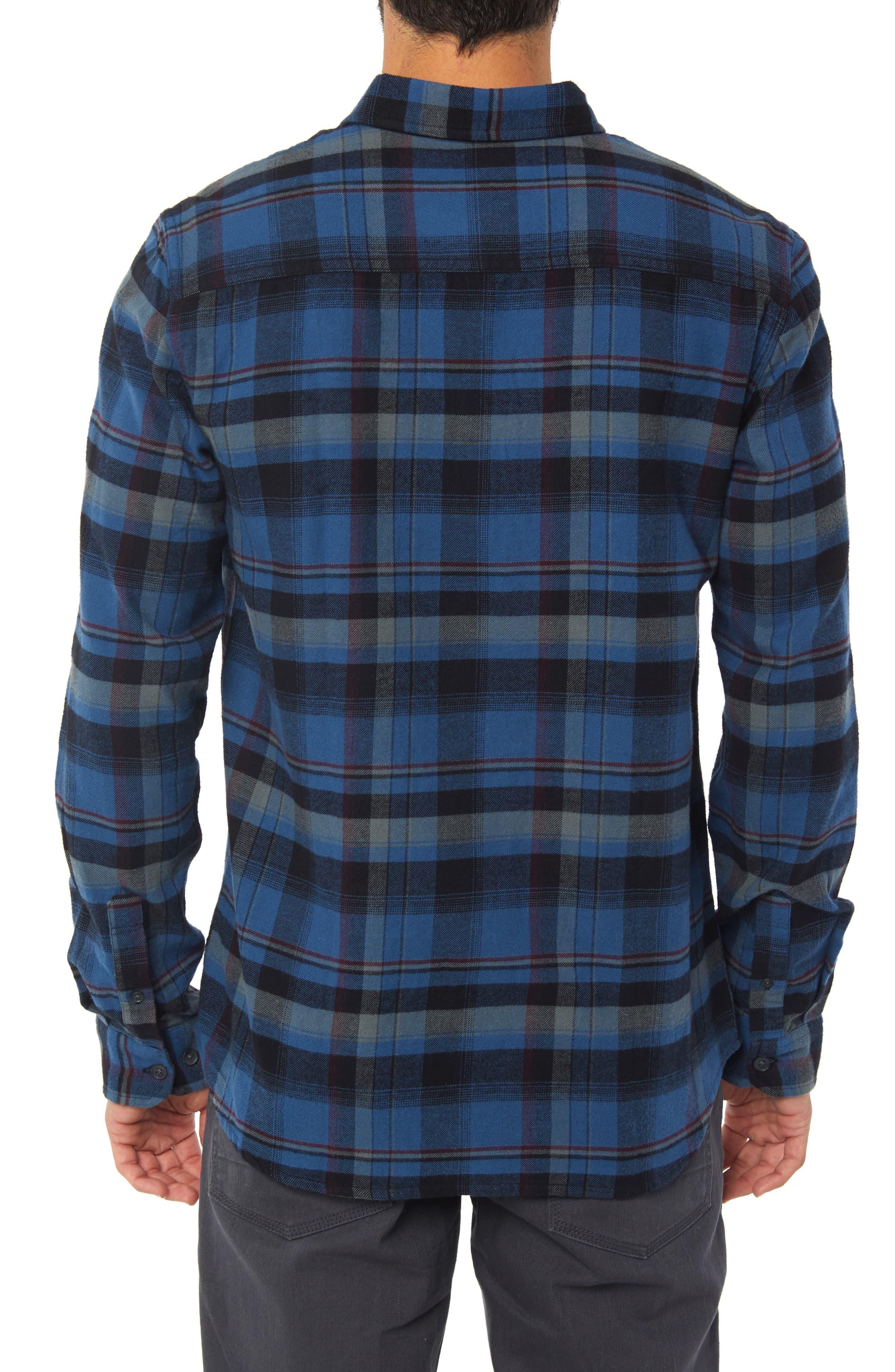 Redmond Flannel Shirt,                             Alternate thumbnail 2, color,                             BLUE