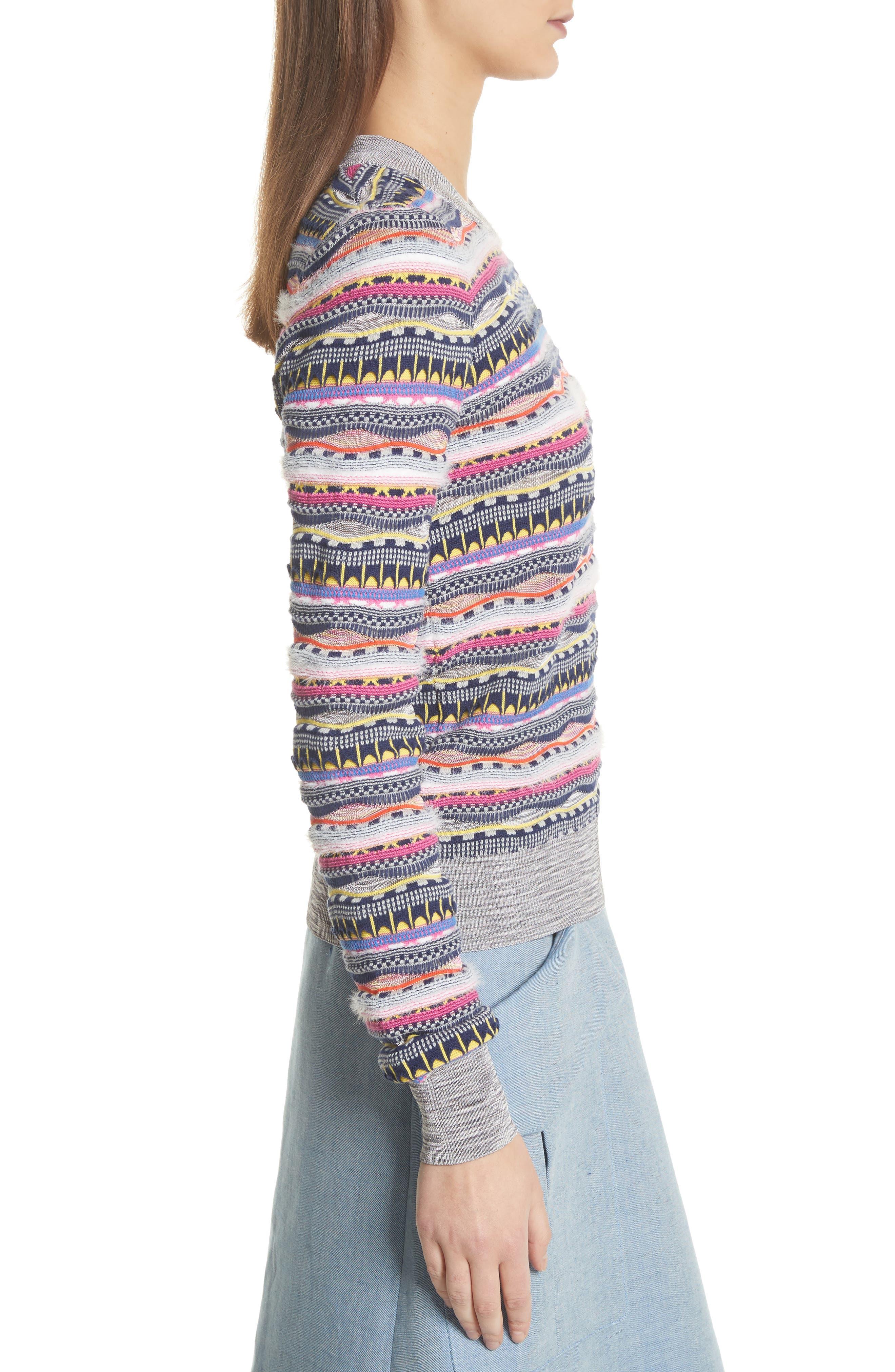 Knit Cotton Blend Sweater,                             Alternate thumbnail 3, color,