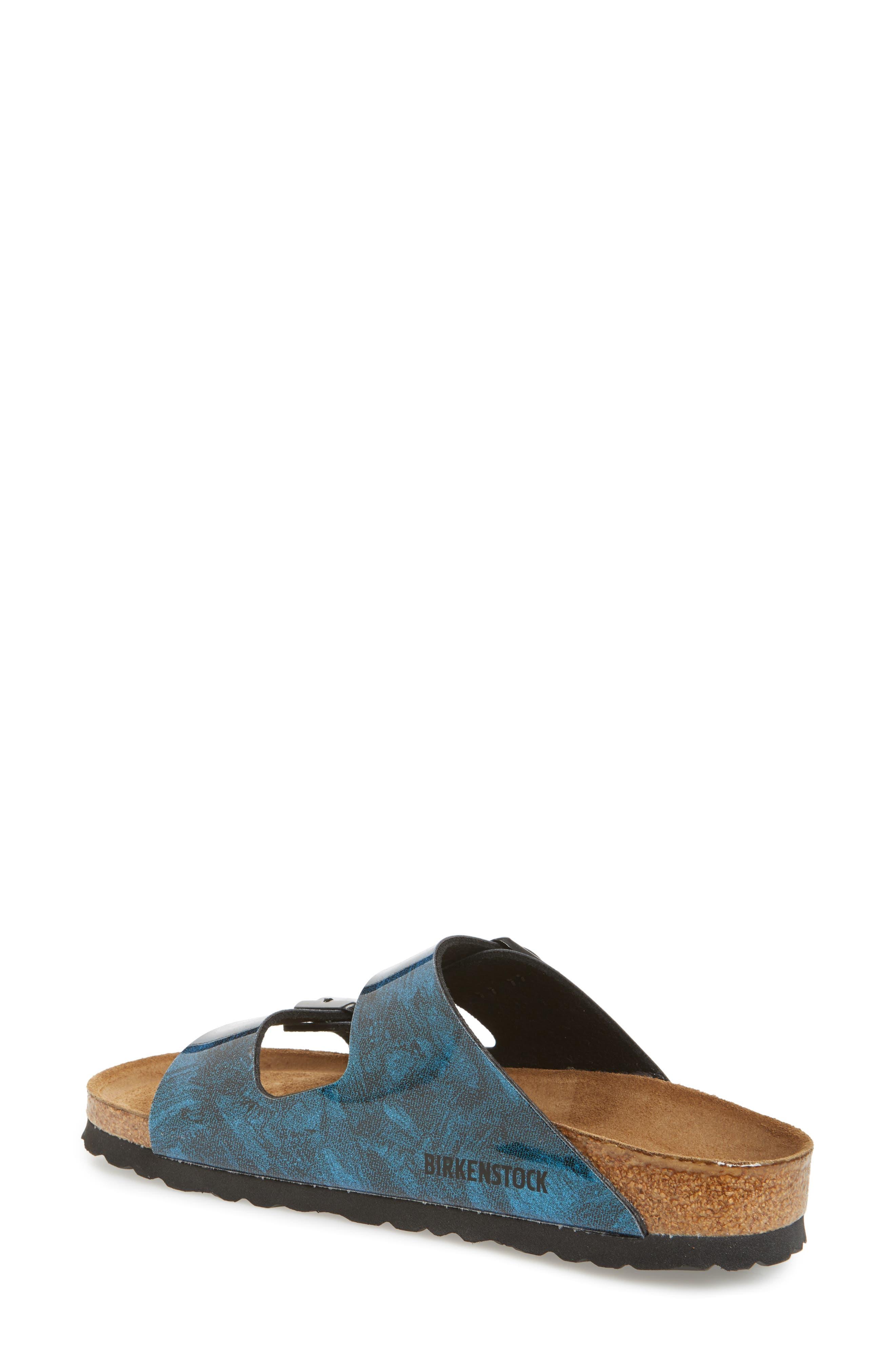 Arizona Birko-Flor Soft Footbed Sandal,                             Alternate thumbnail 2, color,                             MILKY WAY BLUE