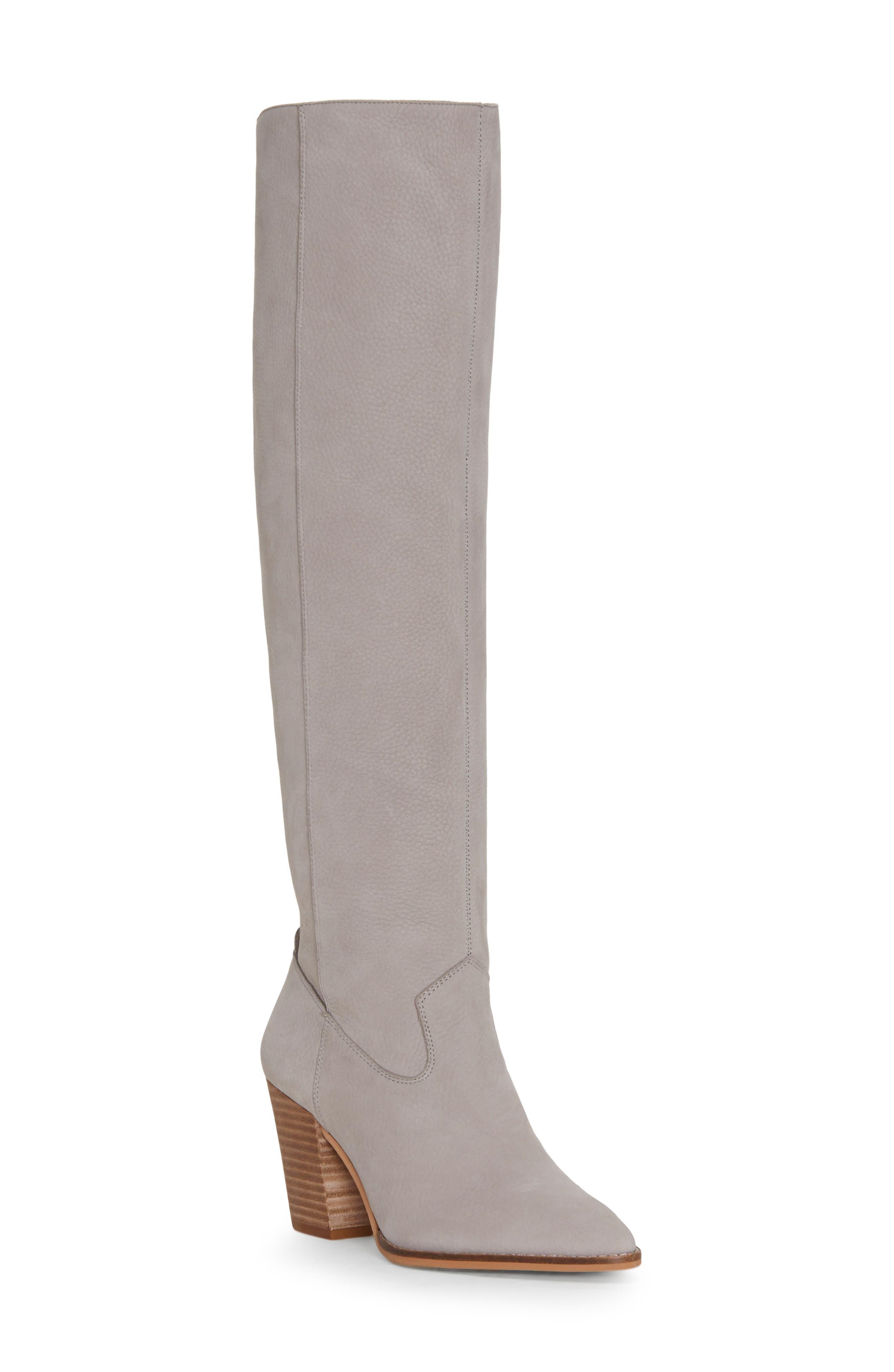 Lucky Brand Azoola Knee High Boot, Grey