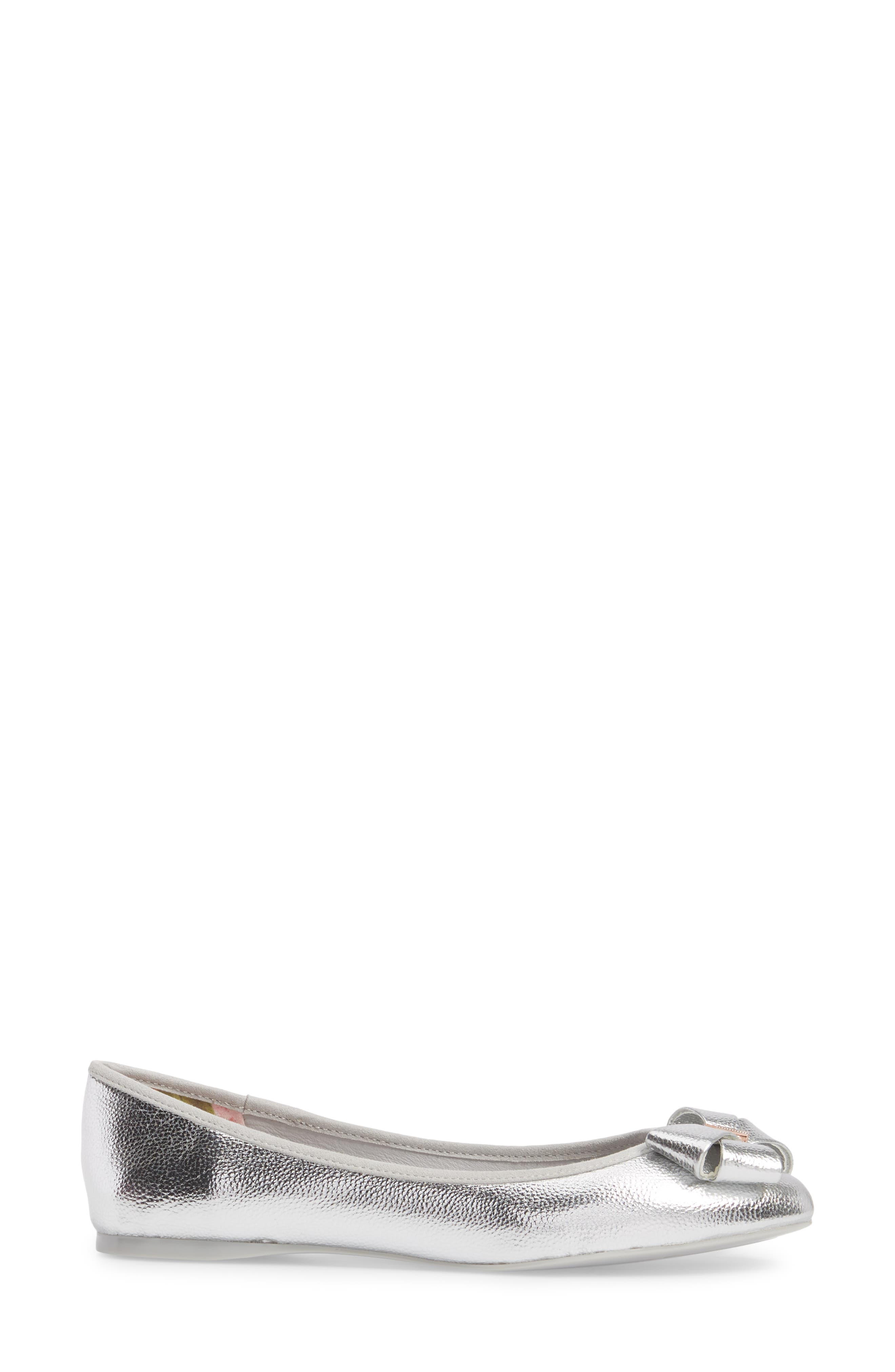 Immet Ballet Flat,                             Alternate thumbnail 3, color,                             SILVER
