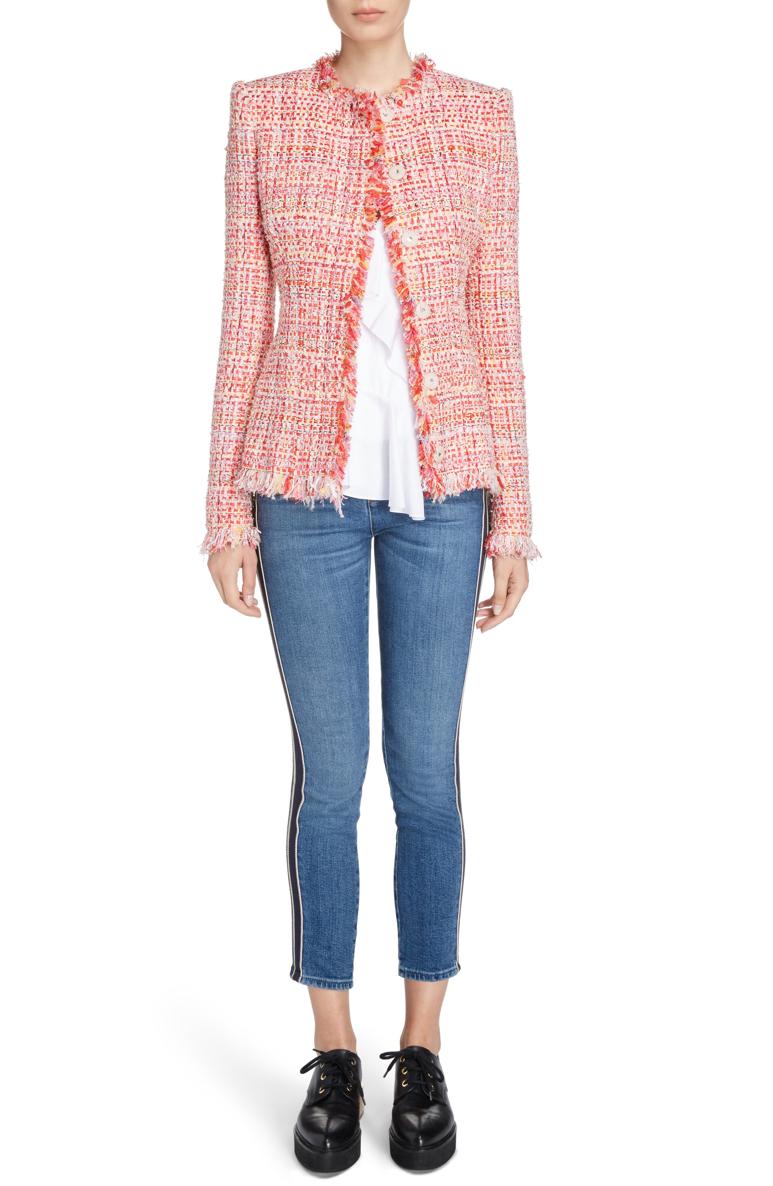 Side Stripe Crop Skinny Jeans,                             Alternate thumbnail 6, color,