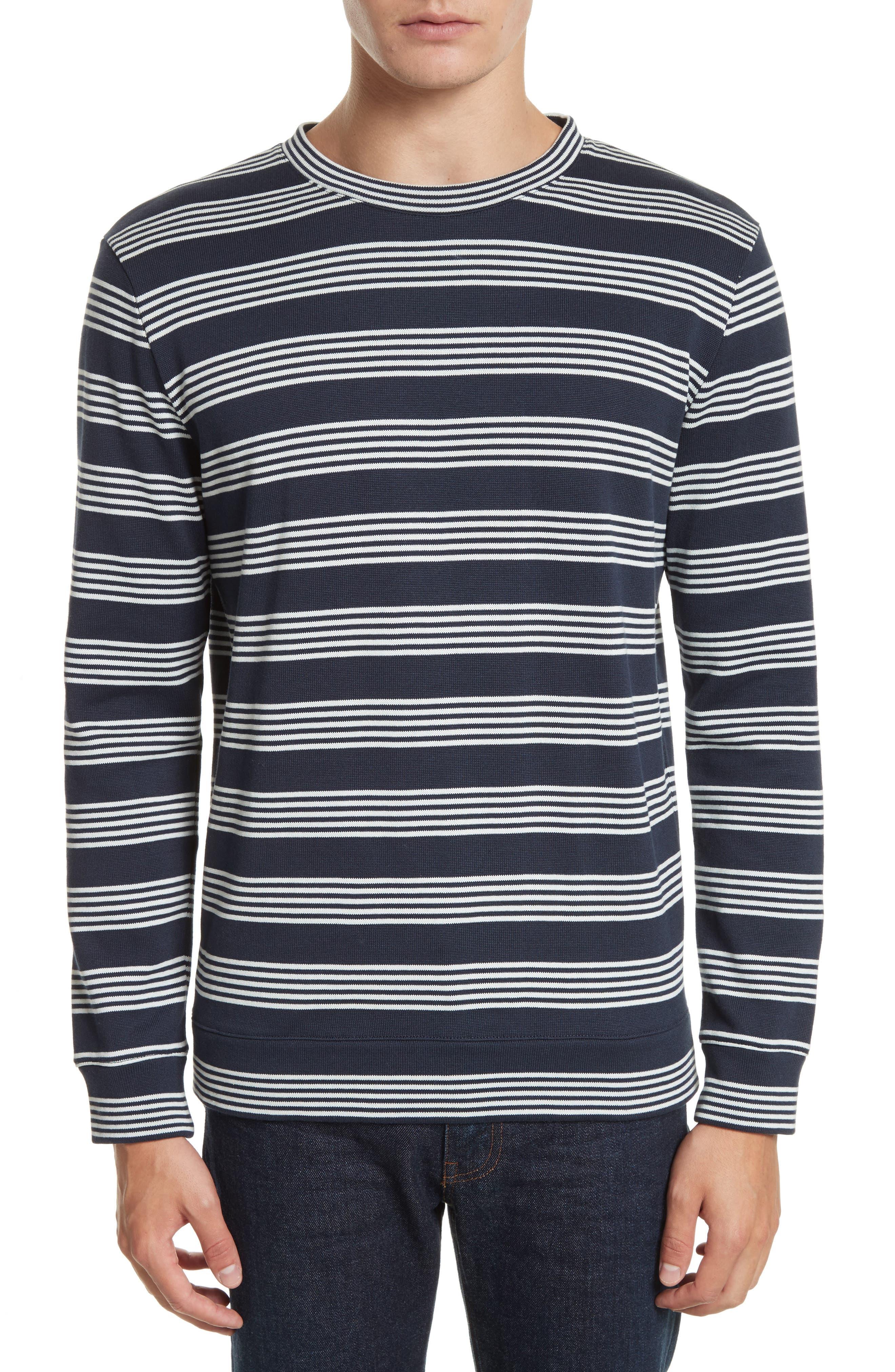 Stripe Sweat Jeremie Sweater,                             Main thumbnail 1, color,                             410