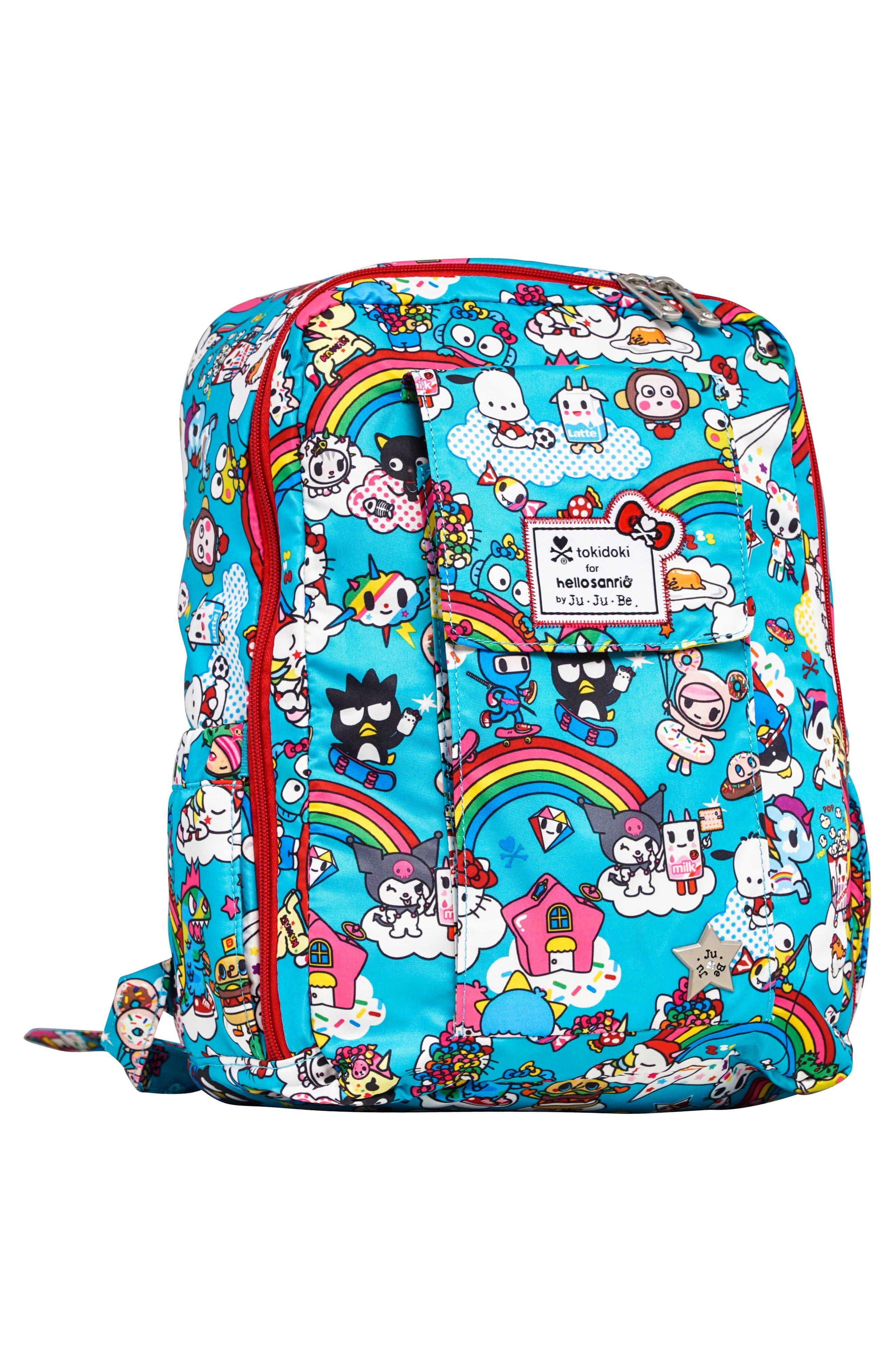 x tokidoki for Hello Sanrio Rainbow Dreams Be Mini Backpack,                             Alternate thumbnail 4, color,                             433
