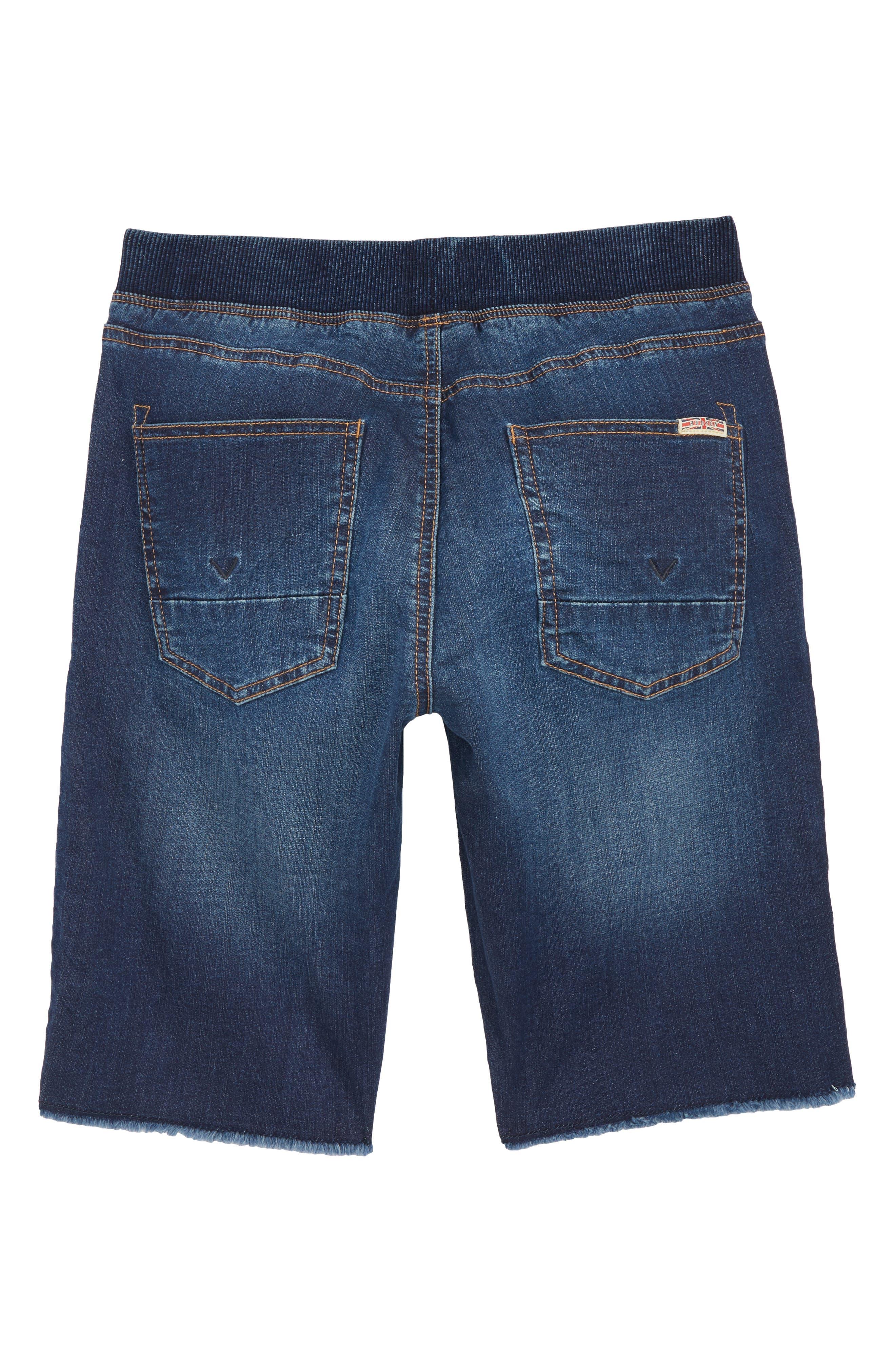 Knit Cutoff Denim Shorts,                             Alternate thumbnail 2, color,                             481