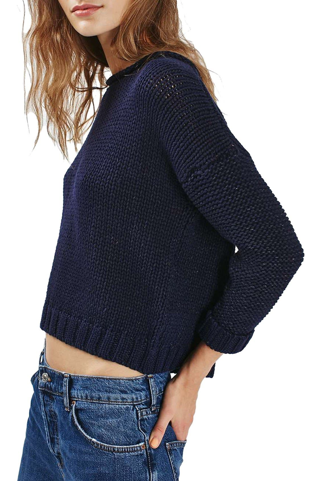 Back Zip Tube Neck Sweater, Main, color, 410