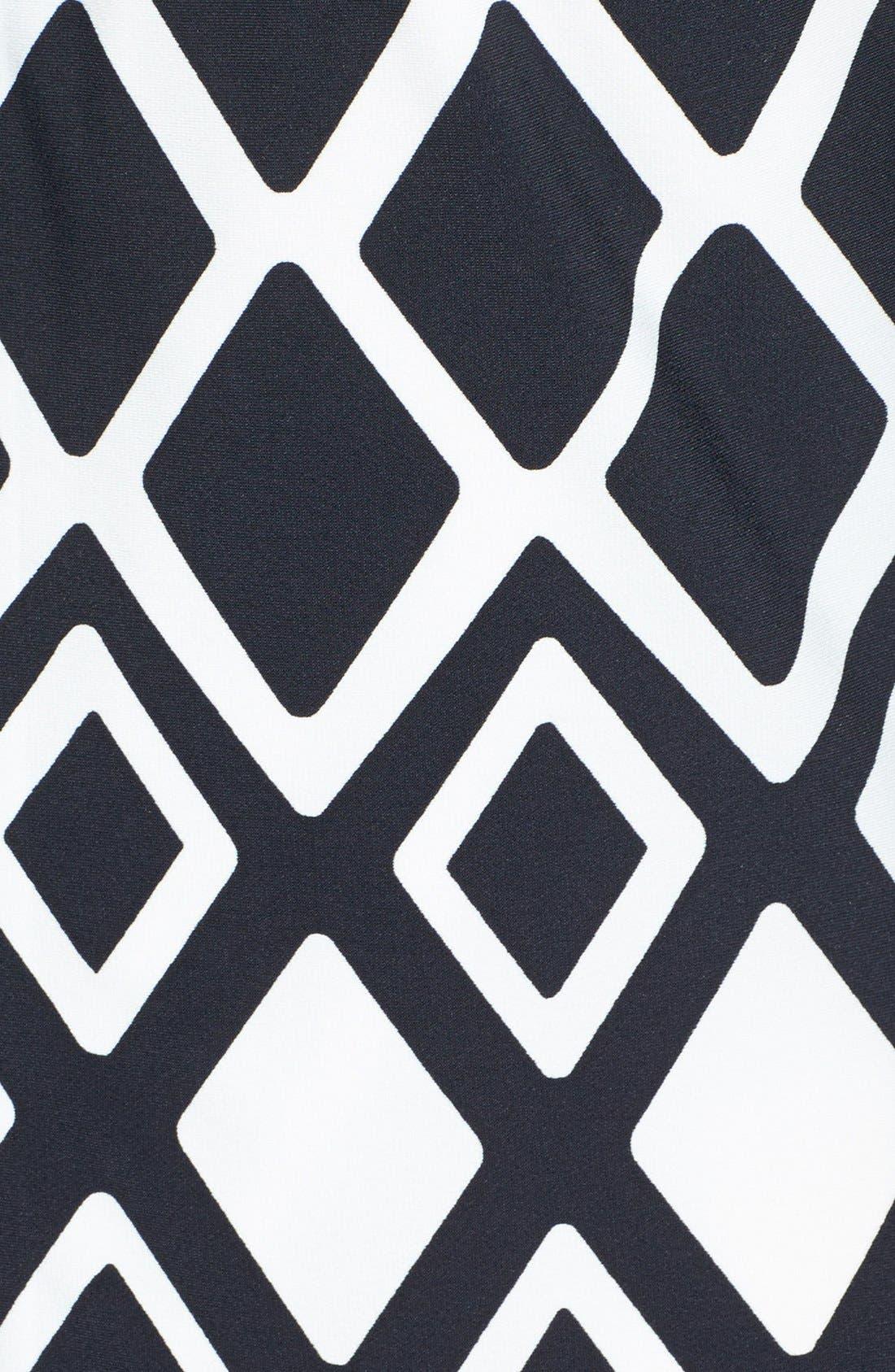 ELIZA J,                             Print Stretch Jersey Shift Dress,                             Alternate thumbnail 5, color,                             001