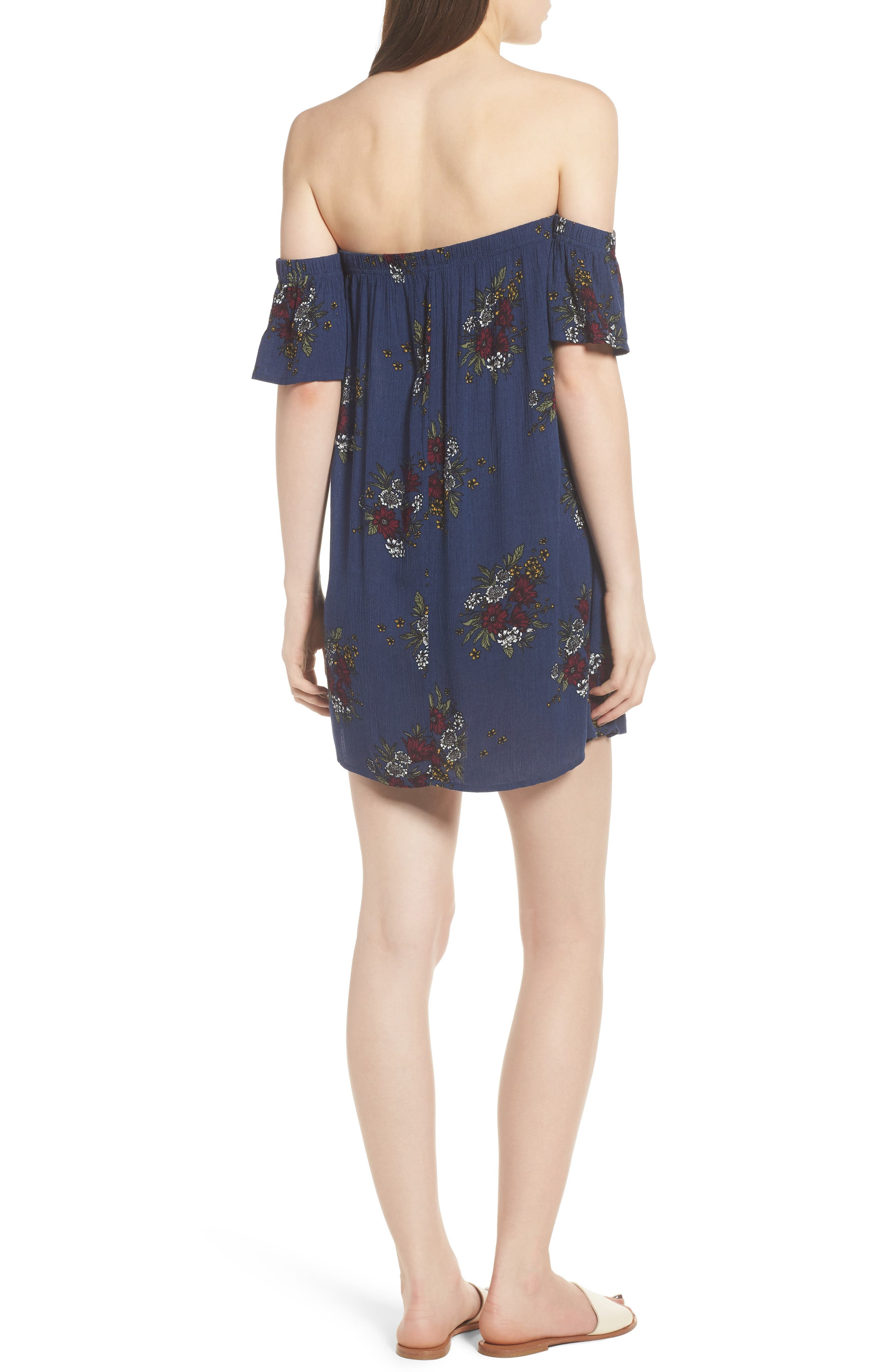 Road to Indio Print Off the Shoulder Dress,                             Alternate thumbnail 3, color,