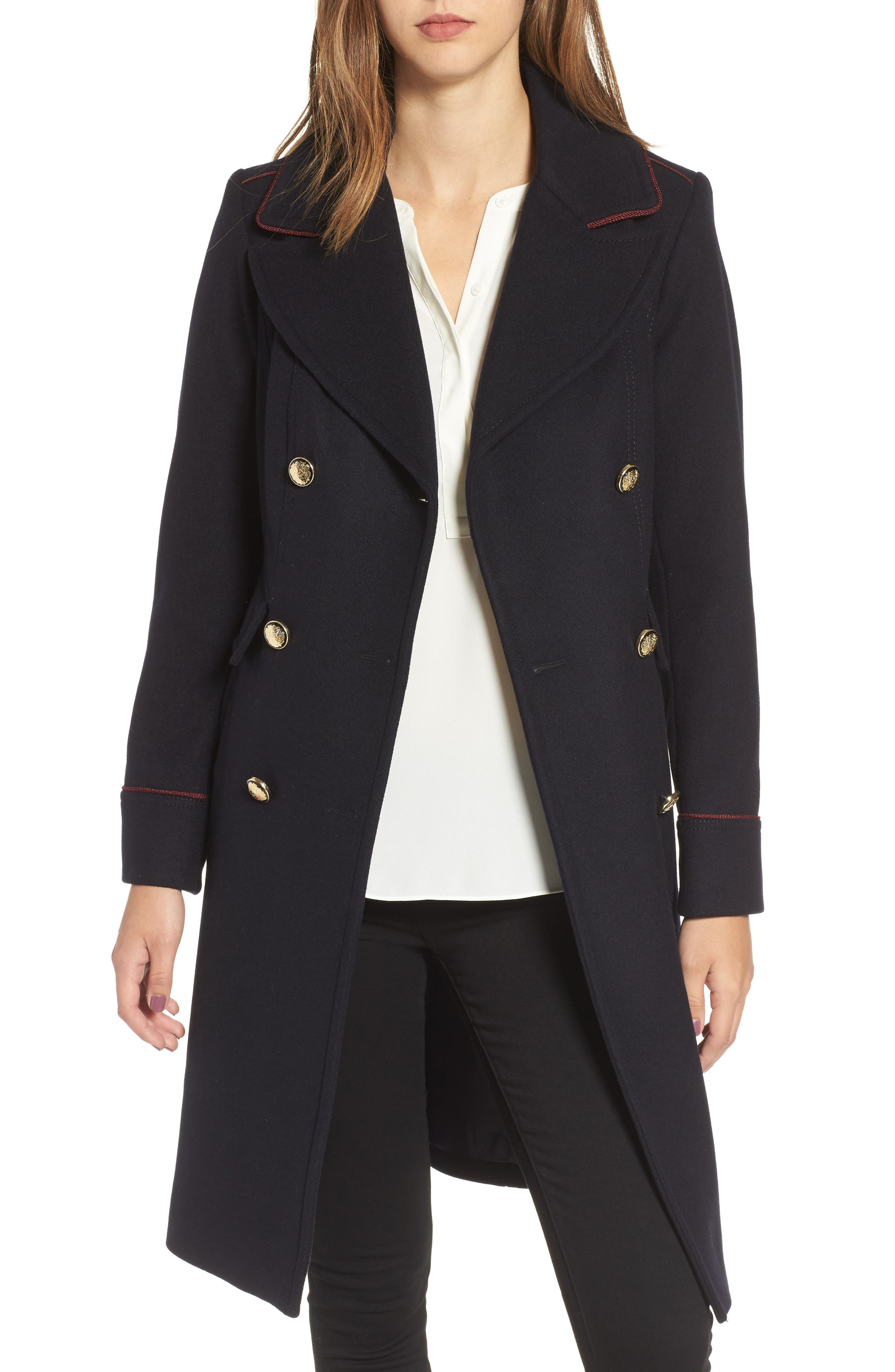 Double Breasted Utility Coat,                             Main thumbnail 1, color,                             001