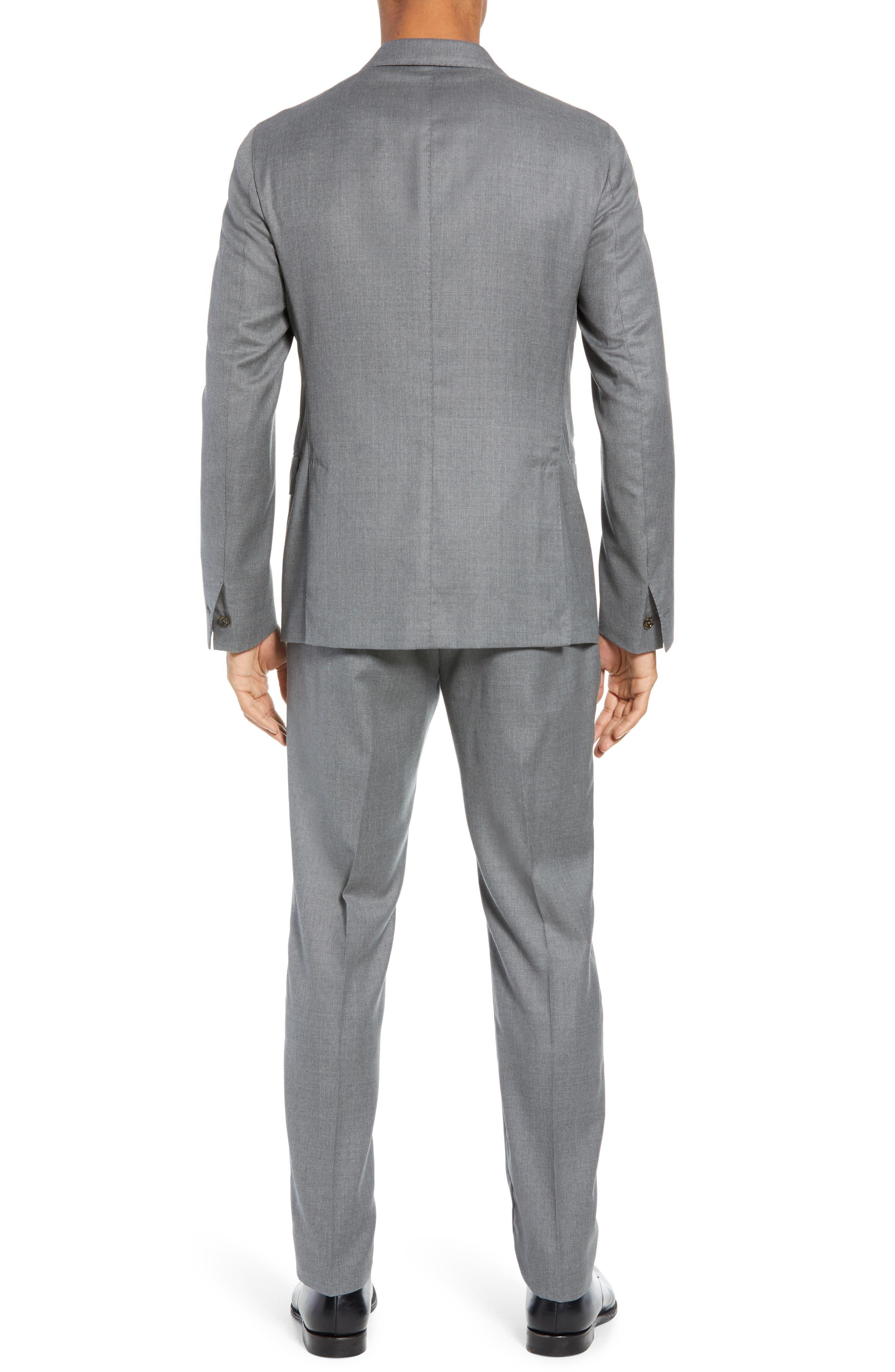Trim Fit Wool Suit,                             Alternate thumbnail 2, color,                             LIGHT GREY