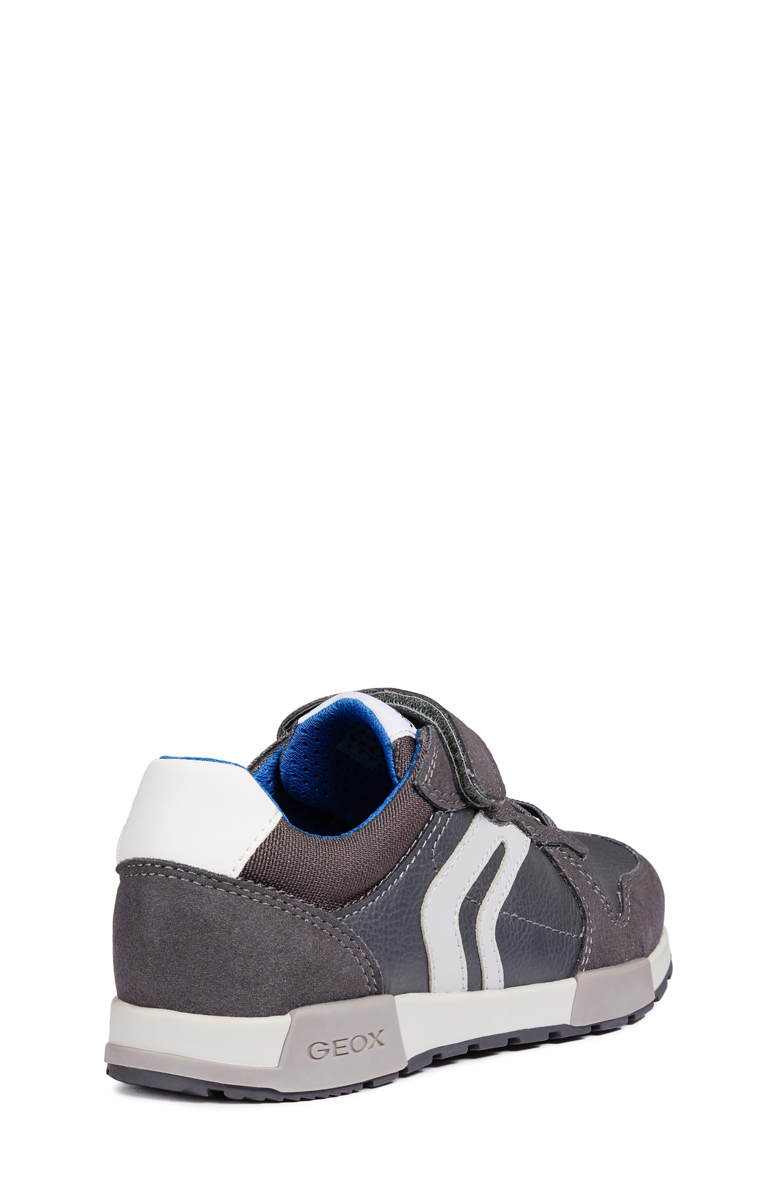Alfier Boy Sneaker,                             Alternate thumbnail 6, color,                             DARK GREY/GREY