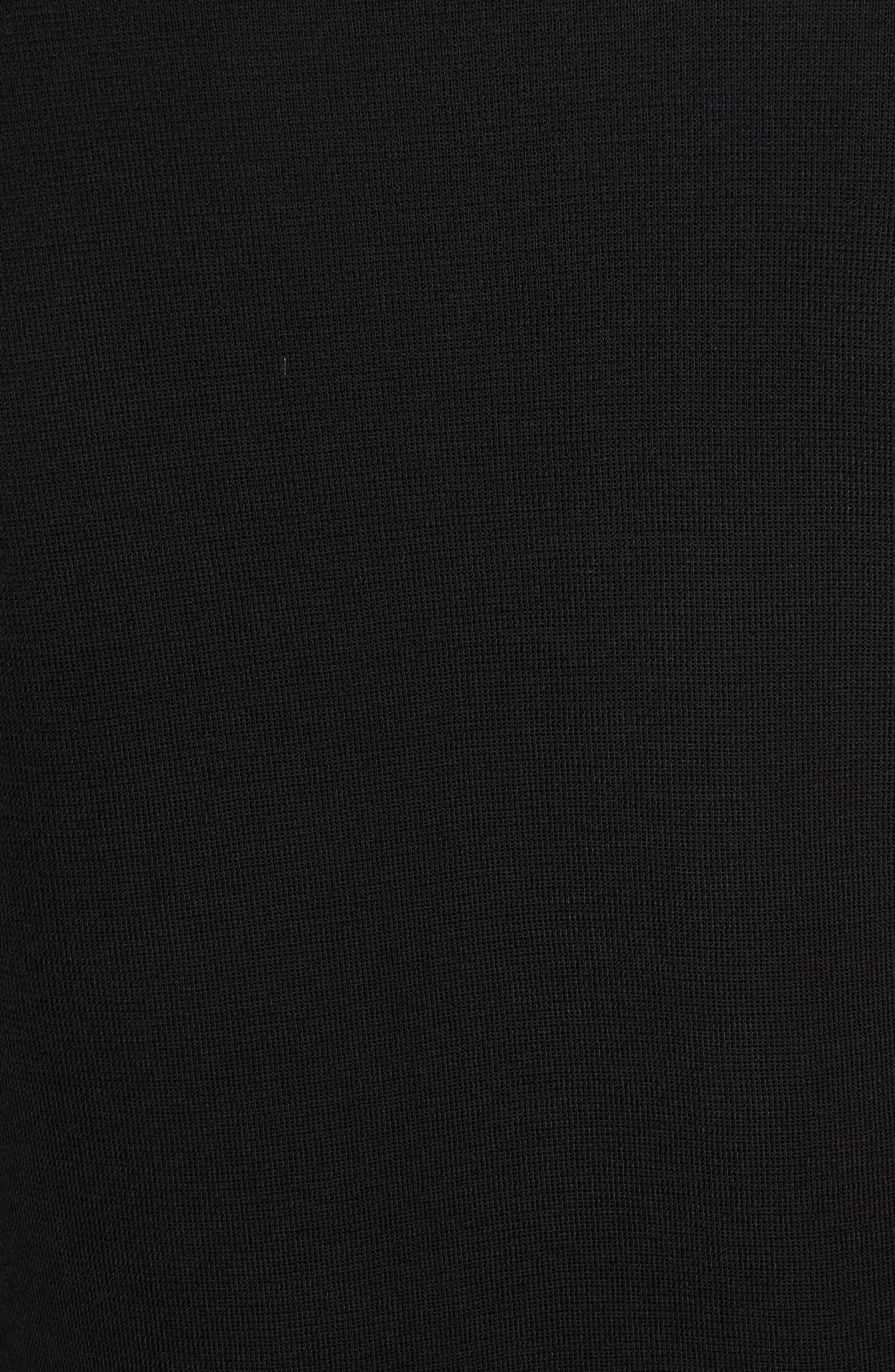Short Sleeve Dress,                             Alternate thumbnail 5, color,                             BLACK
