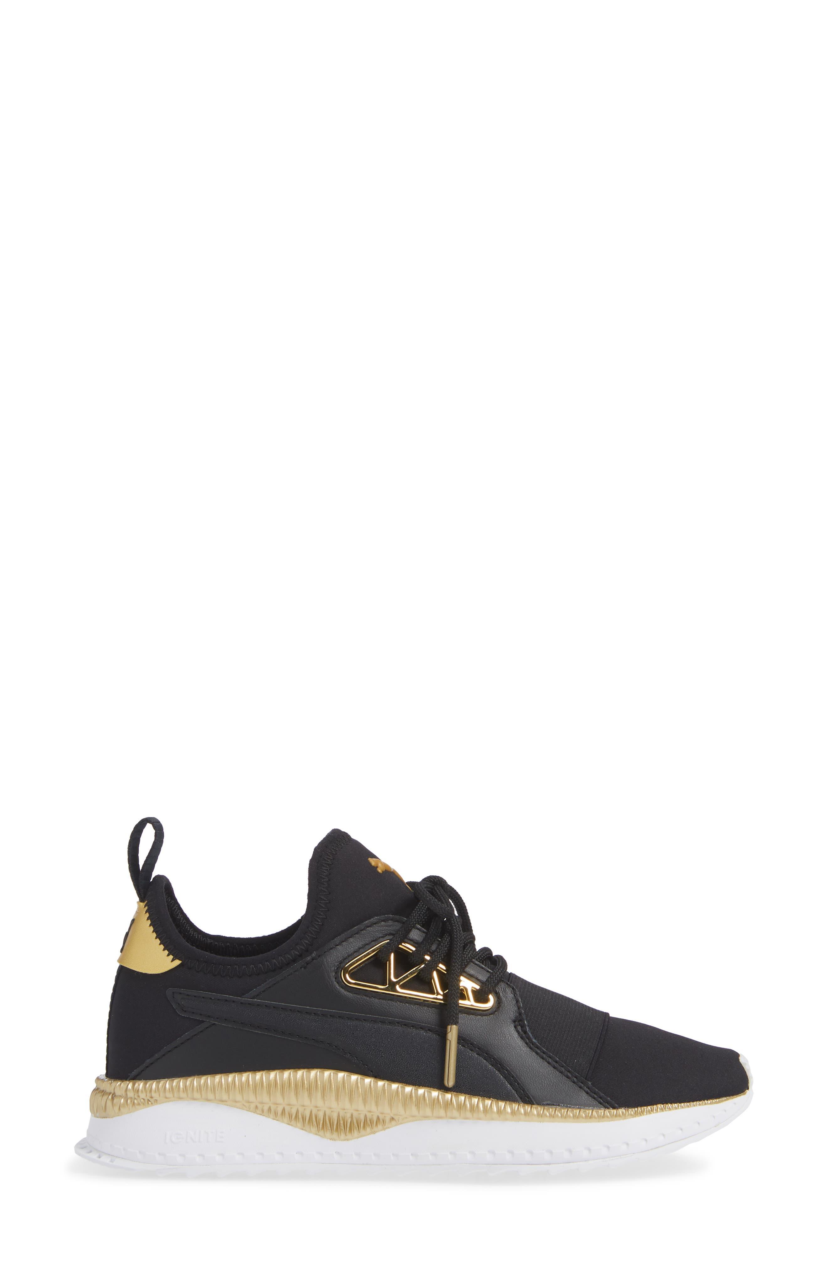 TSUGI Apex Jewel Sneaker,                             Alternate thumbnail 3, color,                             PUMA BLACK/ PUMA BLACK