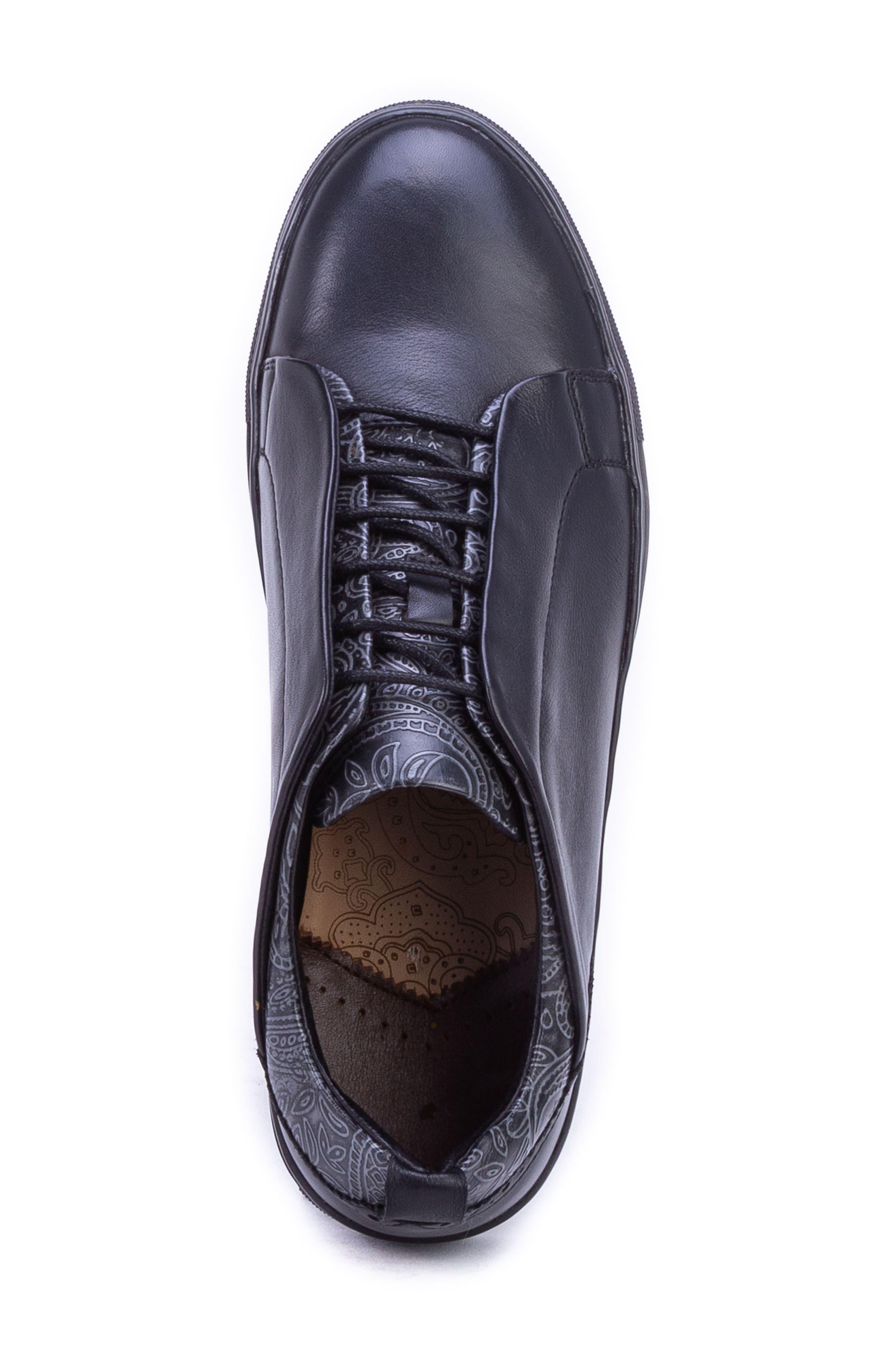 Sharpe Textured Sneaker,                             Alternate thumbnail 5, color,                             001