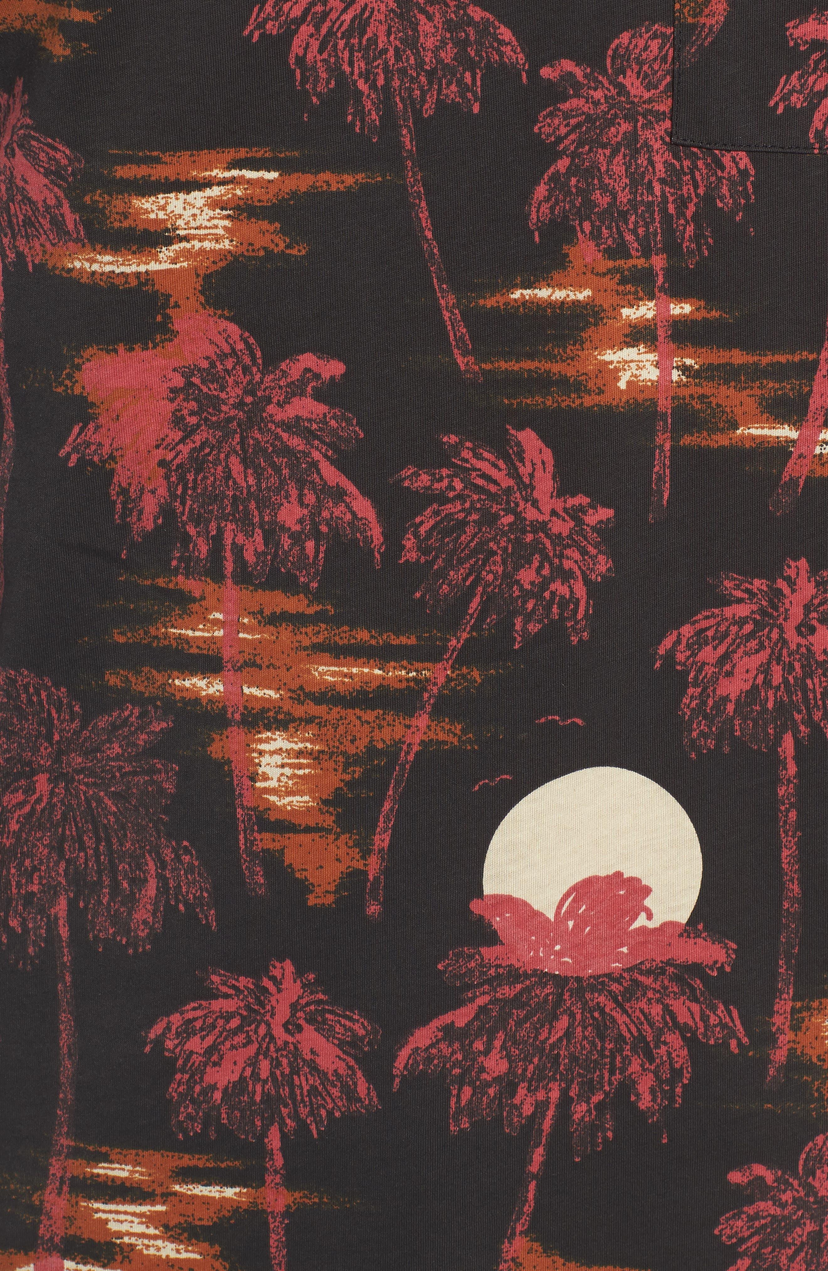 Maxwell Hawaii Print Graphic T-Shirt,                             Alternate thumbnail 5, color,                             001