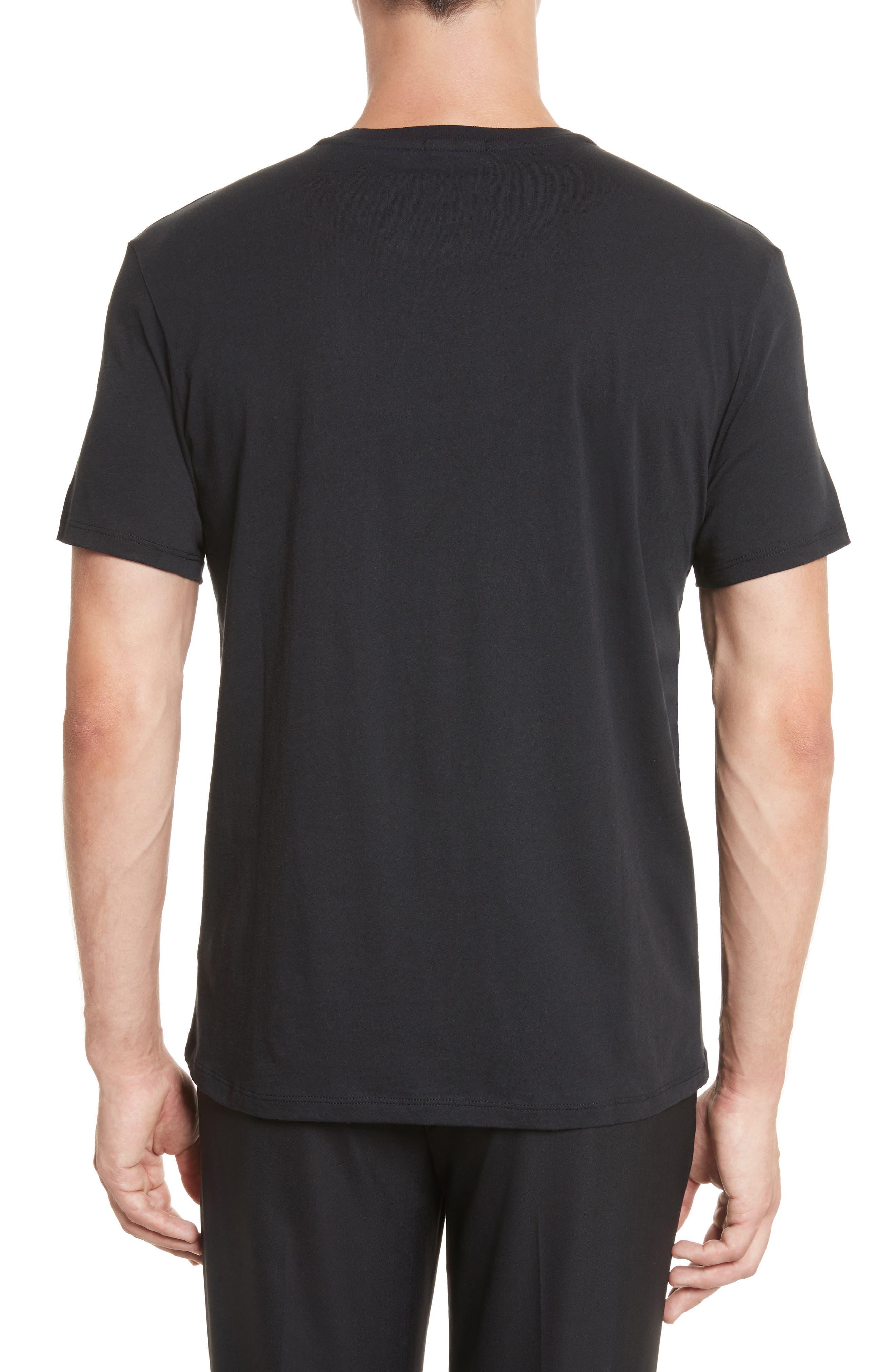 Cotton Jersey T-Shirt,                             Alternate thumbnail 3, color,                             001