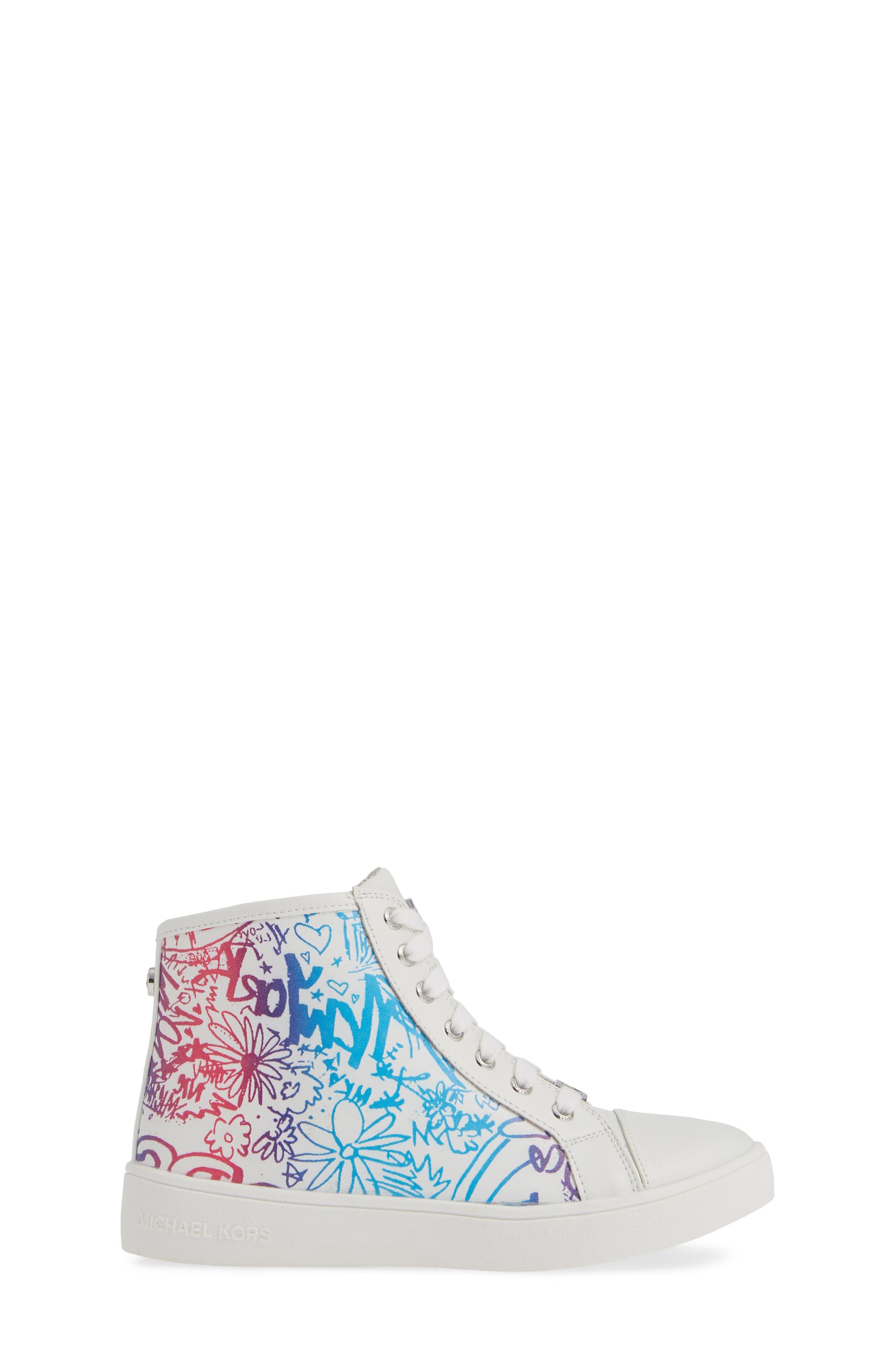Ivy Spectra High Top Sneaker,                             Alternate thumbnail 3, color,                             WHITE MULTI