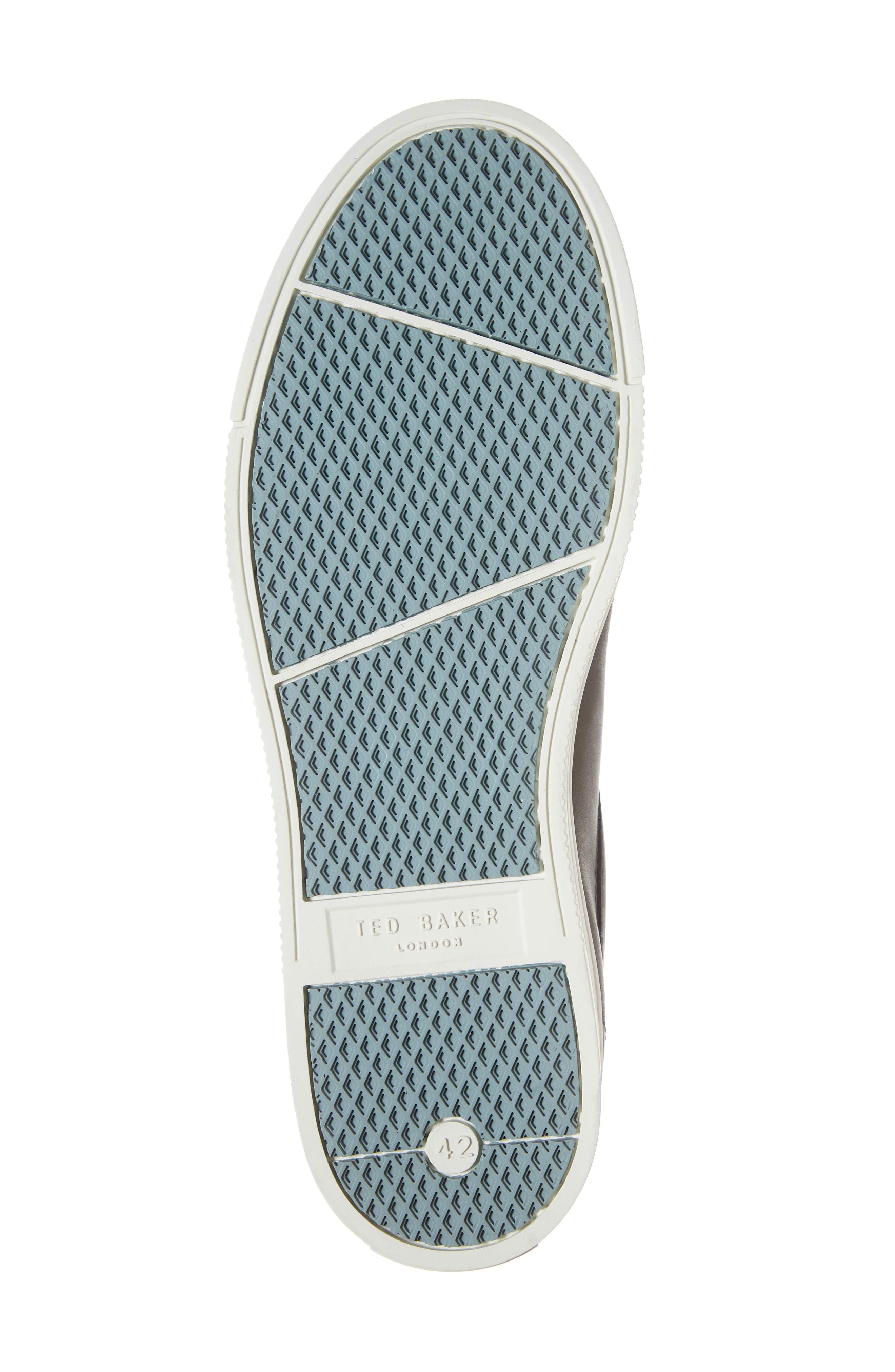 Thawne Sneaker,                             Alternate thumbnail 6, color,                             DARK GREY LEATHER