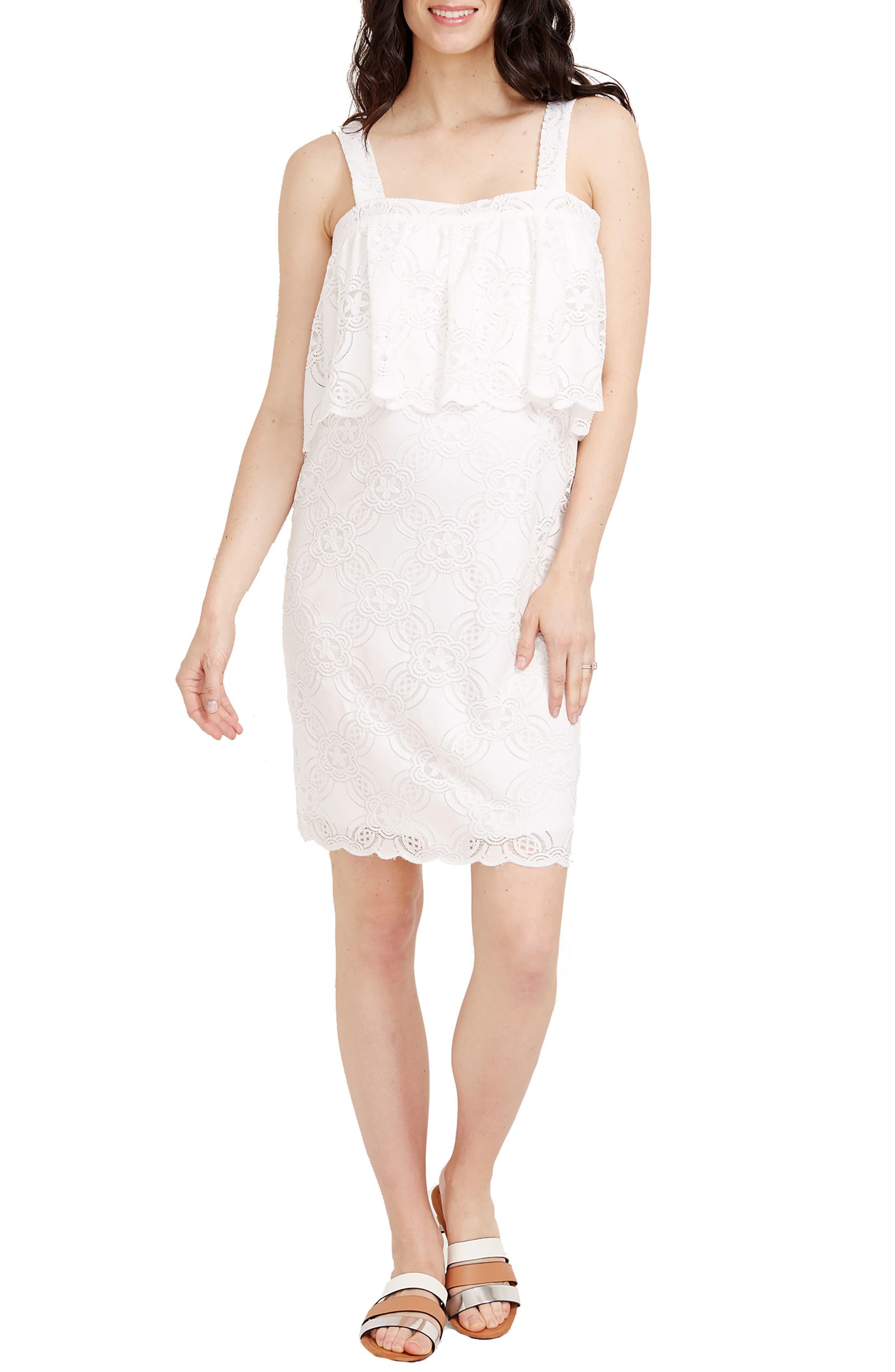 Rosie Pope Mia Maternity Dress, Ivory