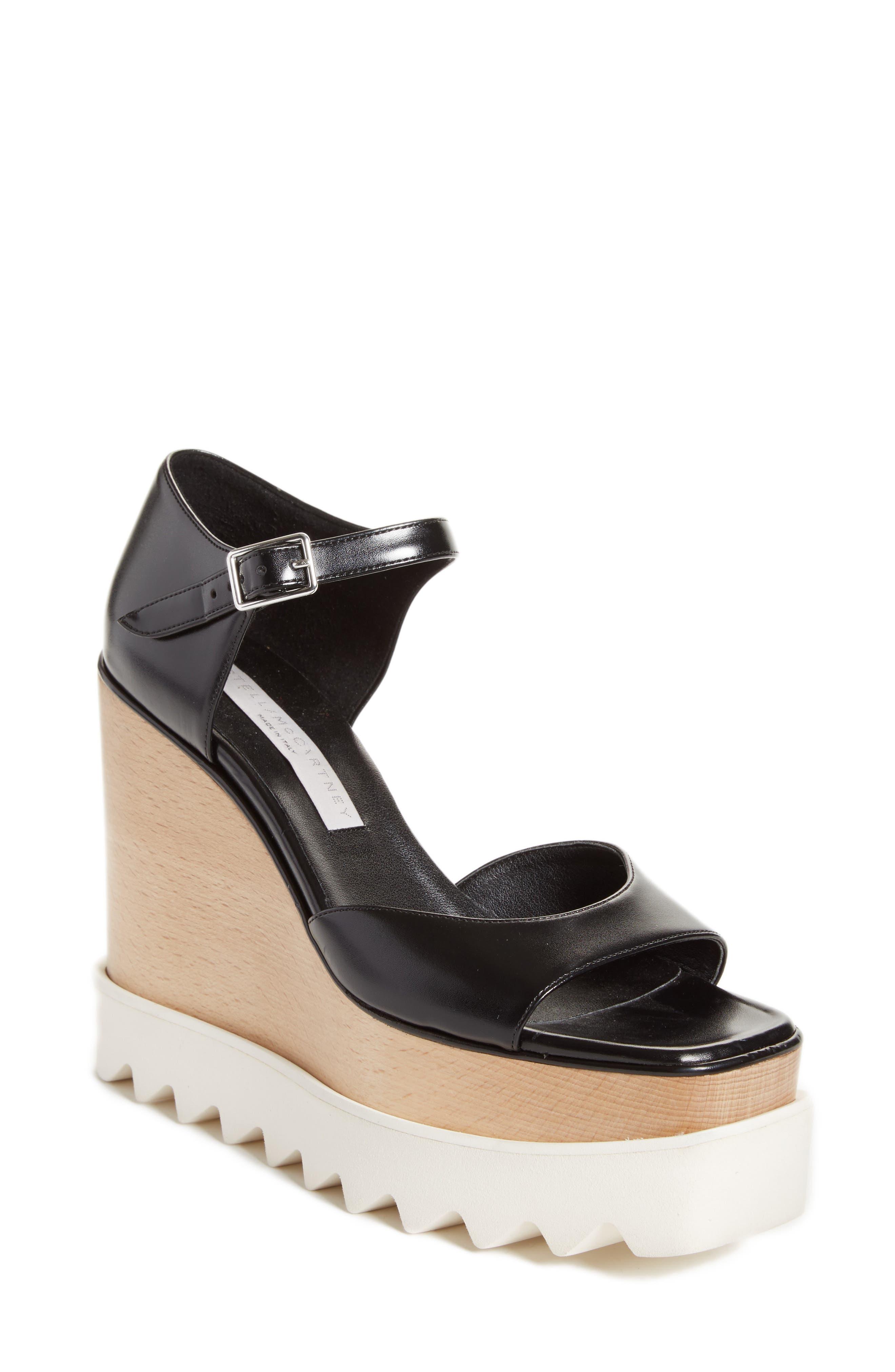 Platform Wedge Sandal,                             Main thumbnail 1, color,                             001
