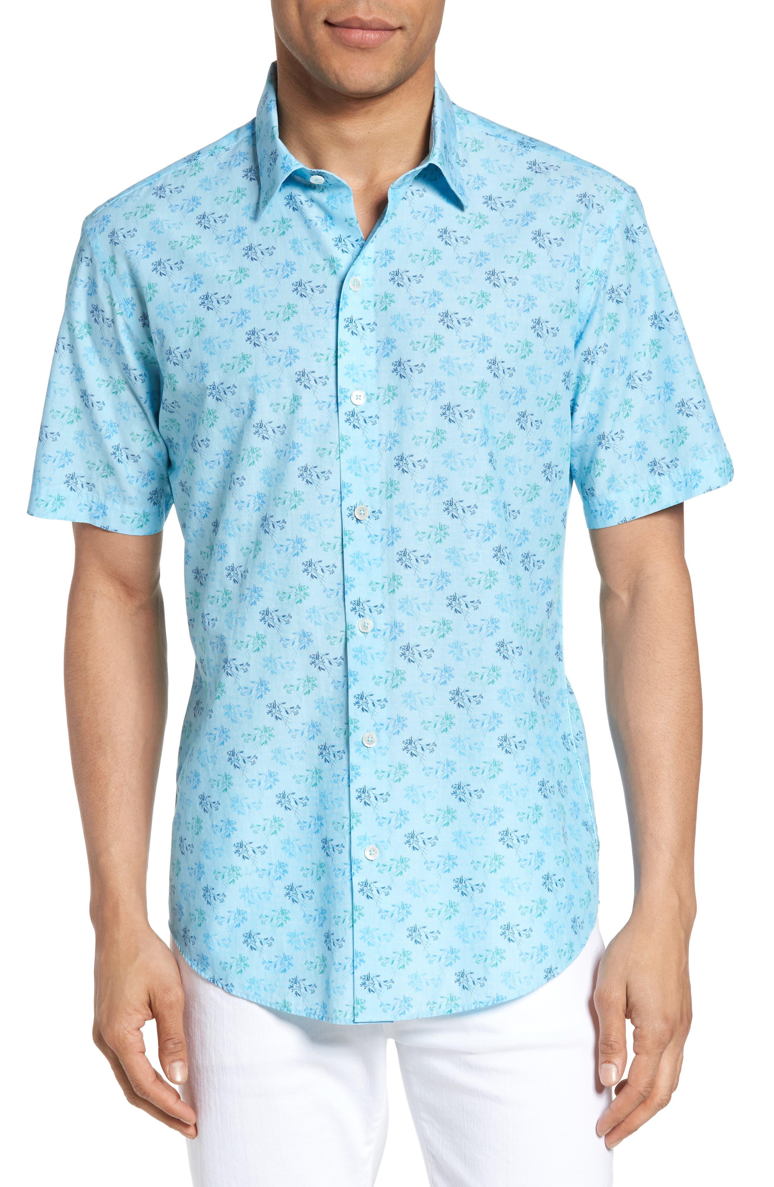 Cobb Print Sport Shirt,                             Main thumbnail 1, color,                             439