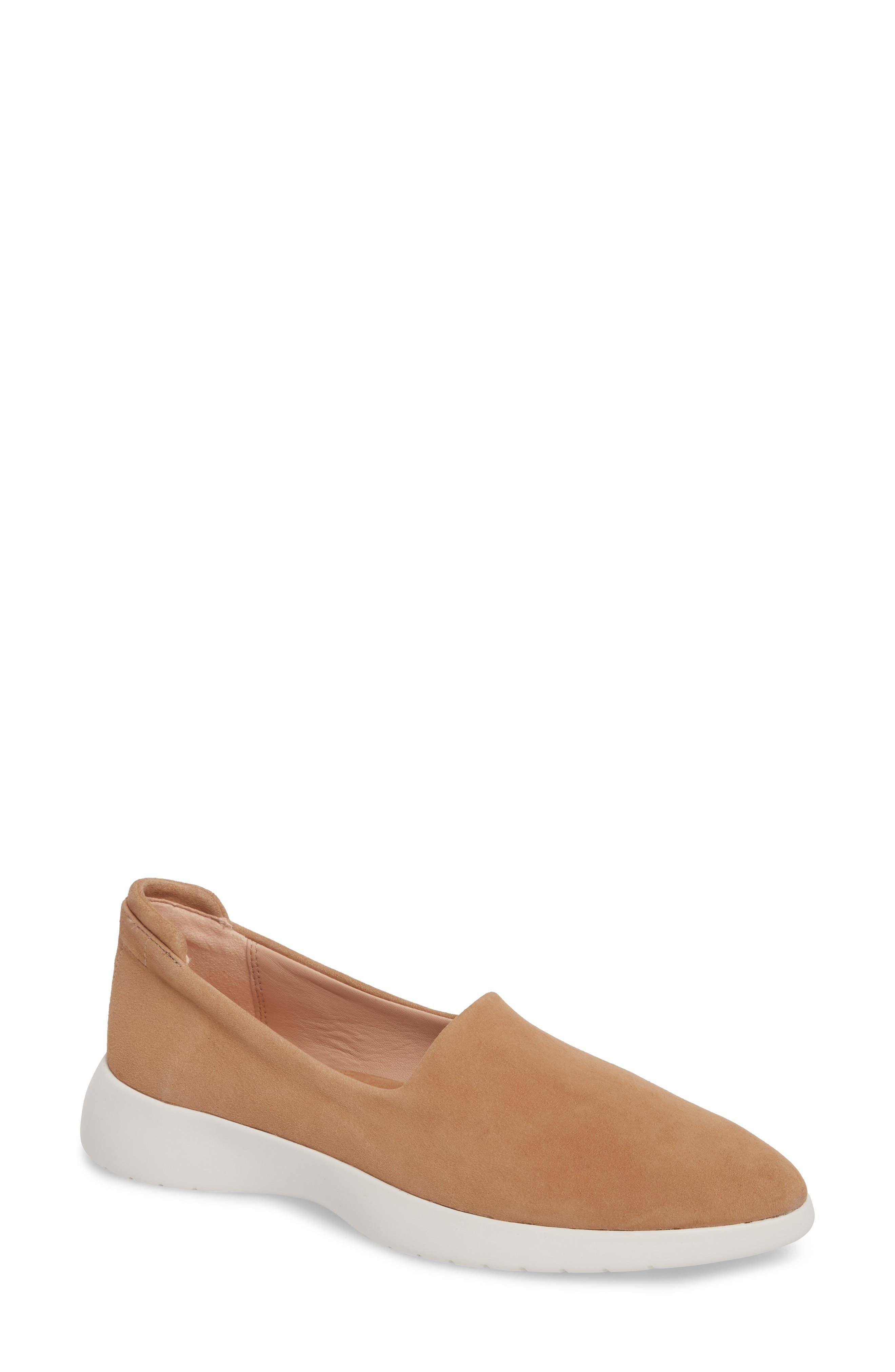 Darla Slip-On Sneaker,                             Main thumbnail 1, color,                             SOFT BEIGE SUEDE