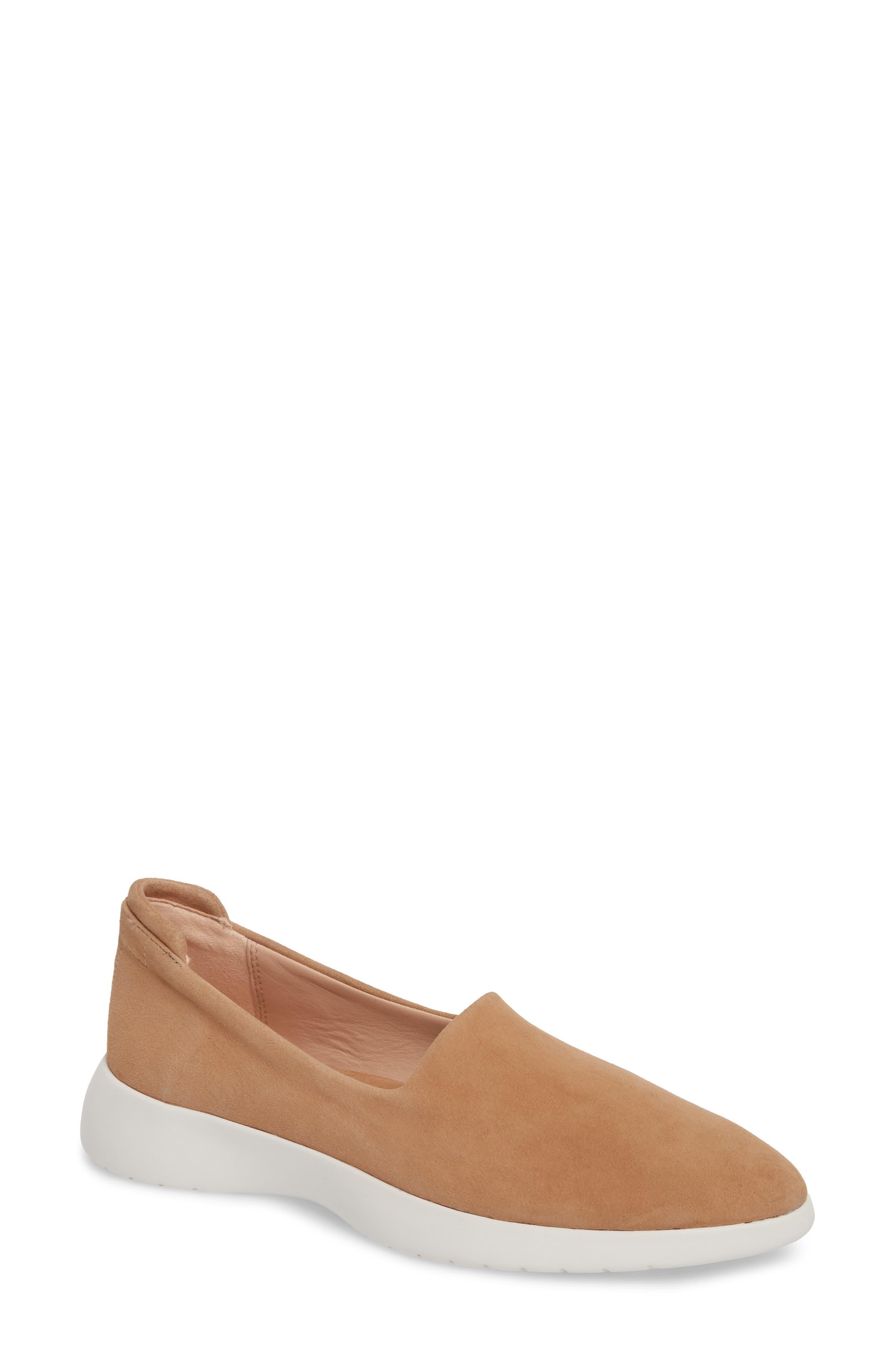 Darla Slip-On Sneaker,                         Main,                         color, SOFT BEIGE SUEDE