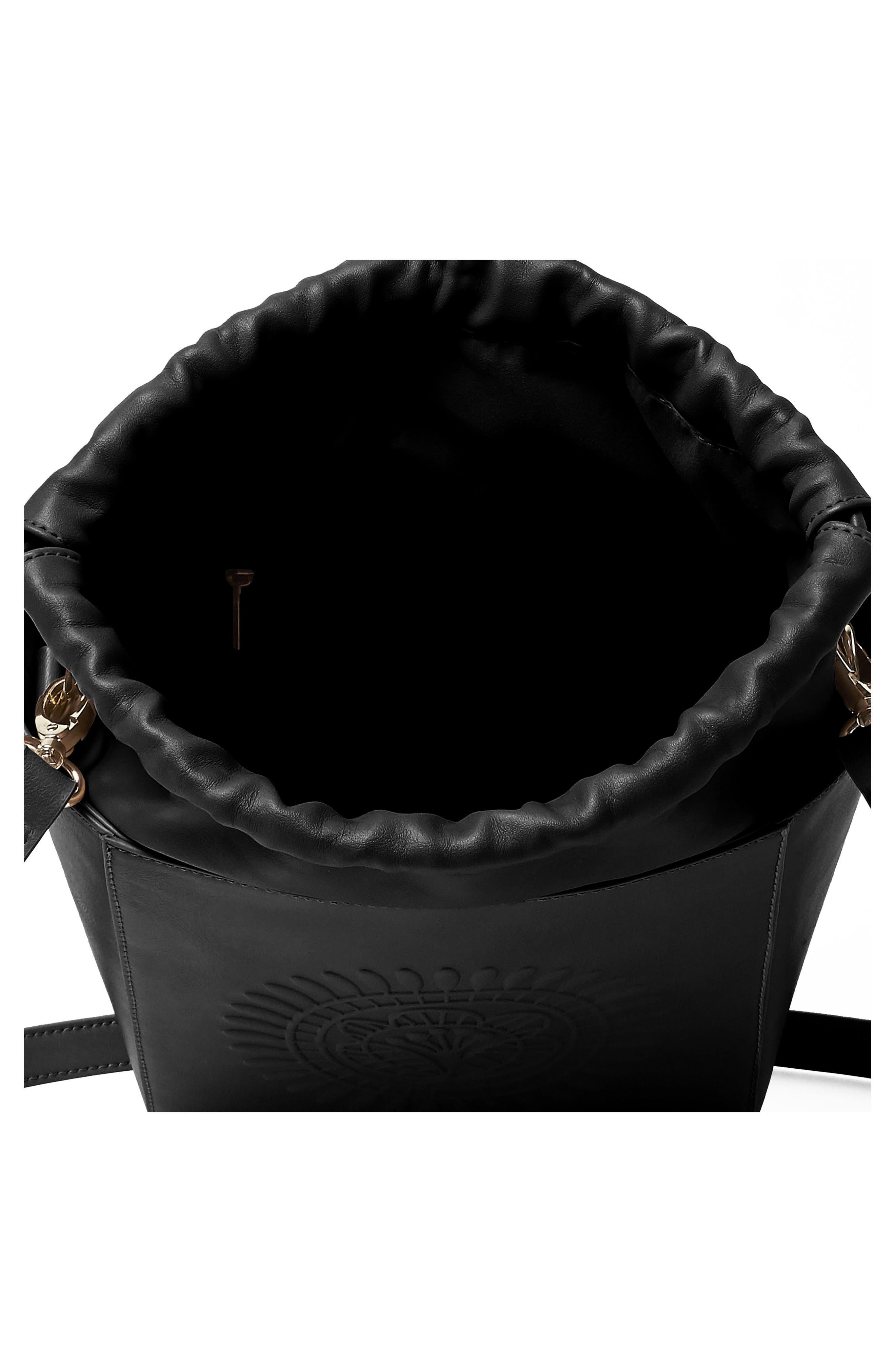 Wanderer Vegan Leather Bucket Bag,                             Alternate thumbnail 2, color,                             001