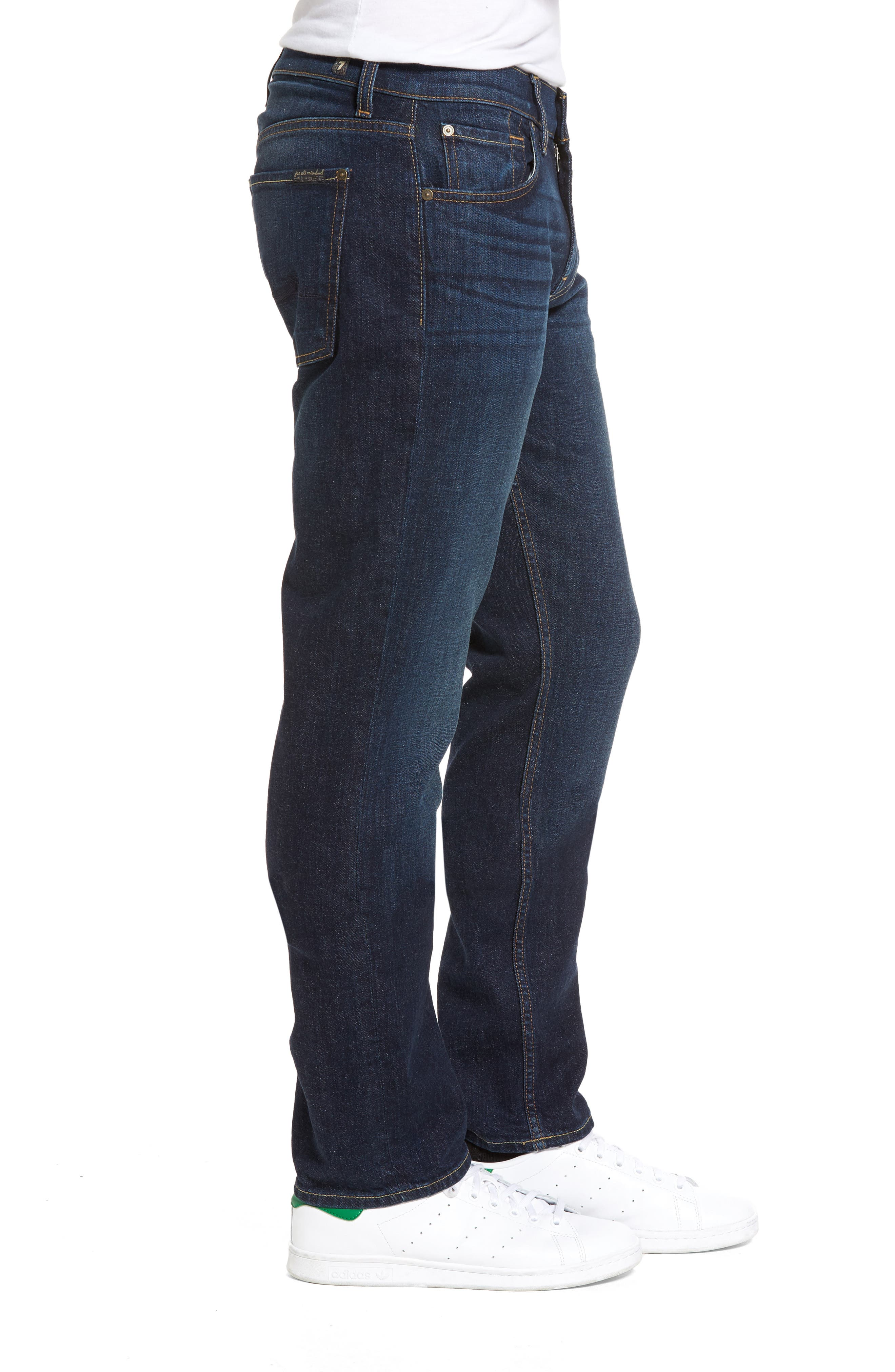 The Standard Straight Fit Jeans,                             Alternate thumbnail 3, color,                             400