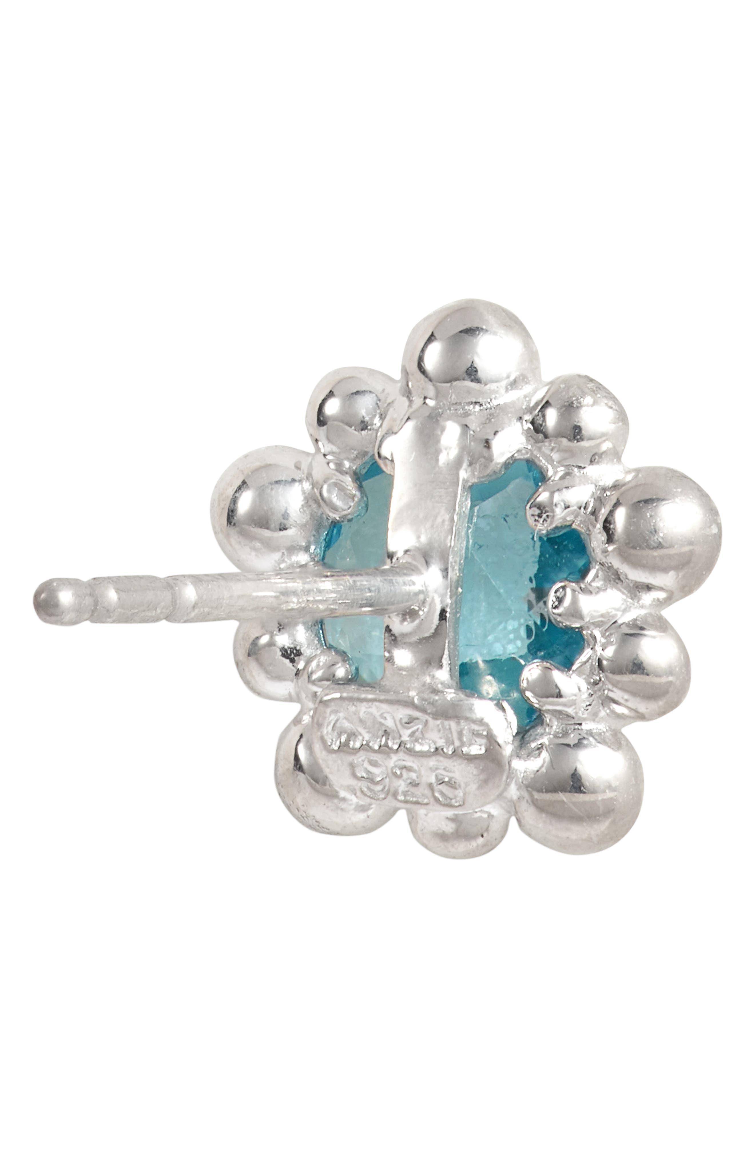 Micro Dew Drop Topaz Earrings,                             Alternate thumbnail 3, color,                             040