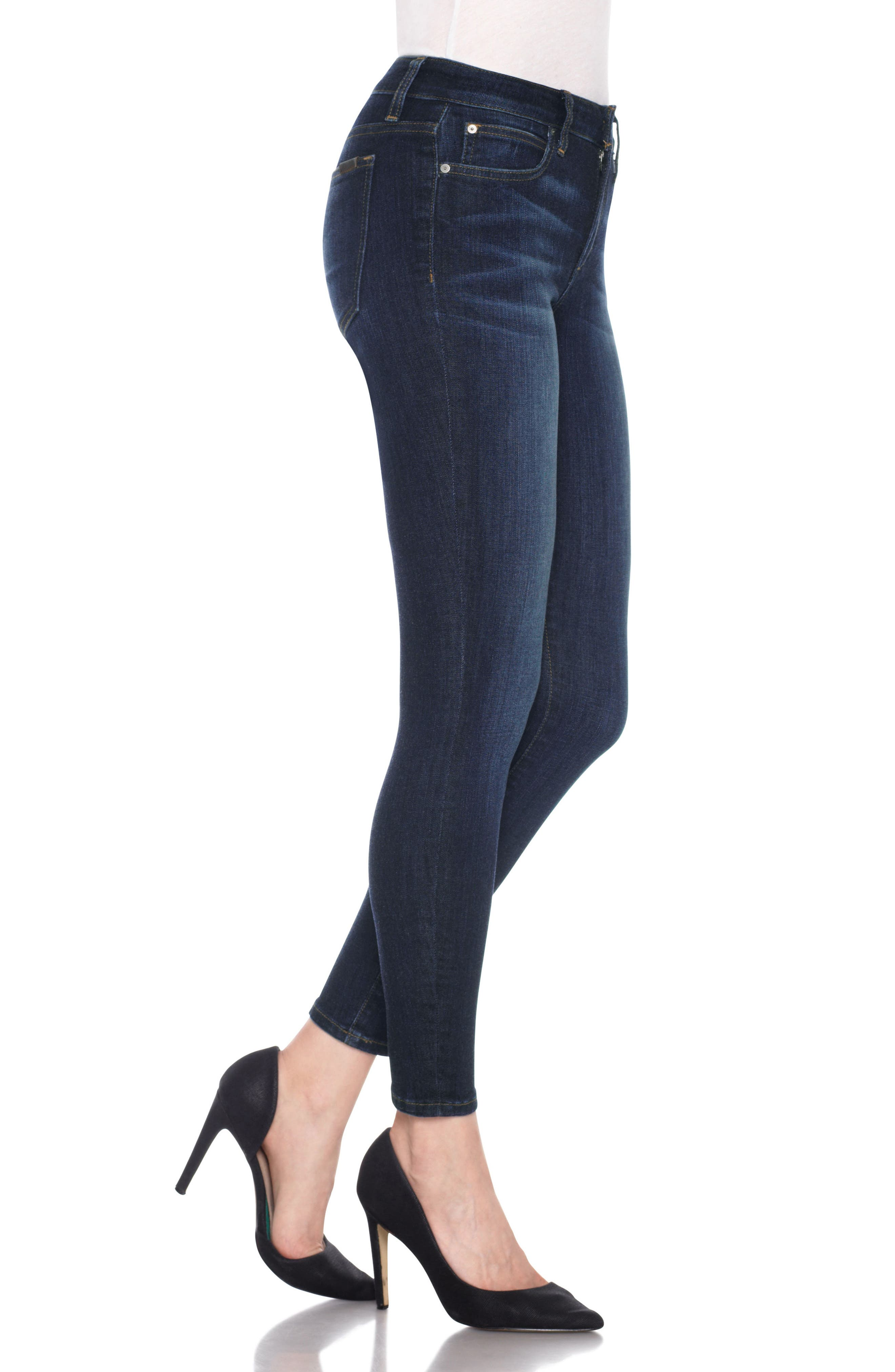 Flawless - Icon Ankle Skinny Jeans,                             Alternate thumbnail 3, color,                             NURIE