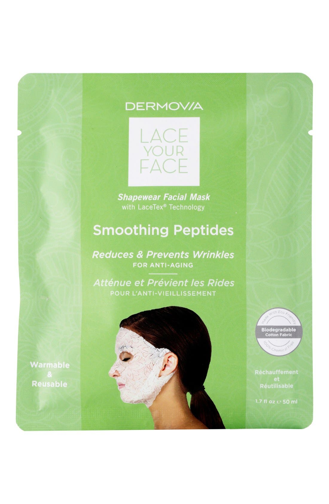 Lace Your Face Smoothing Peptides Compression Facial Mask,                             Main thumbnail 1, color,                             NONE