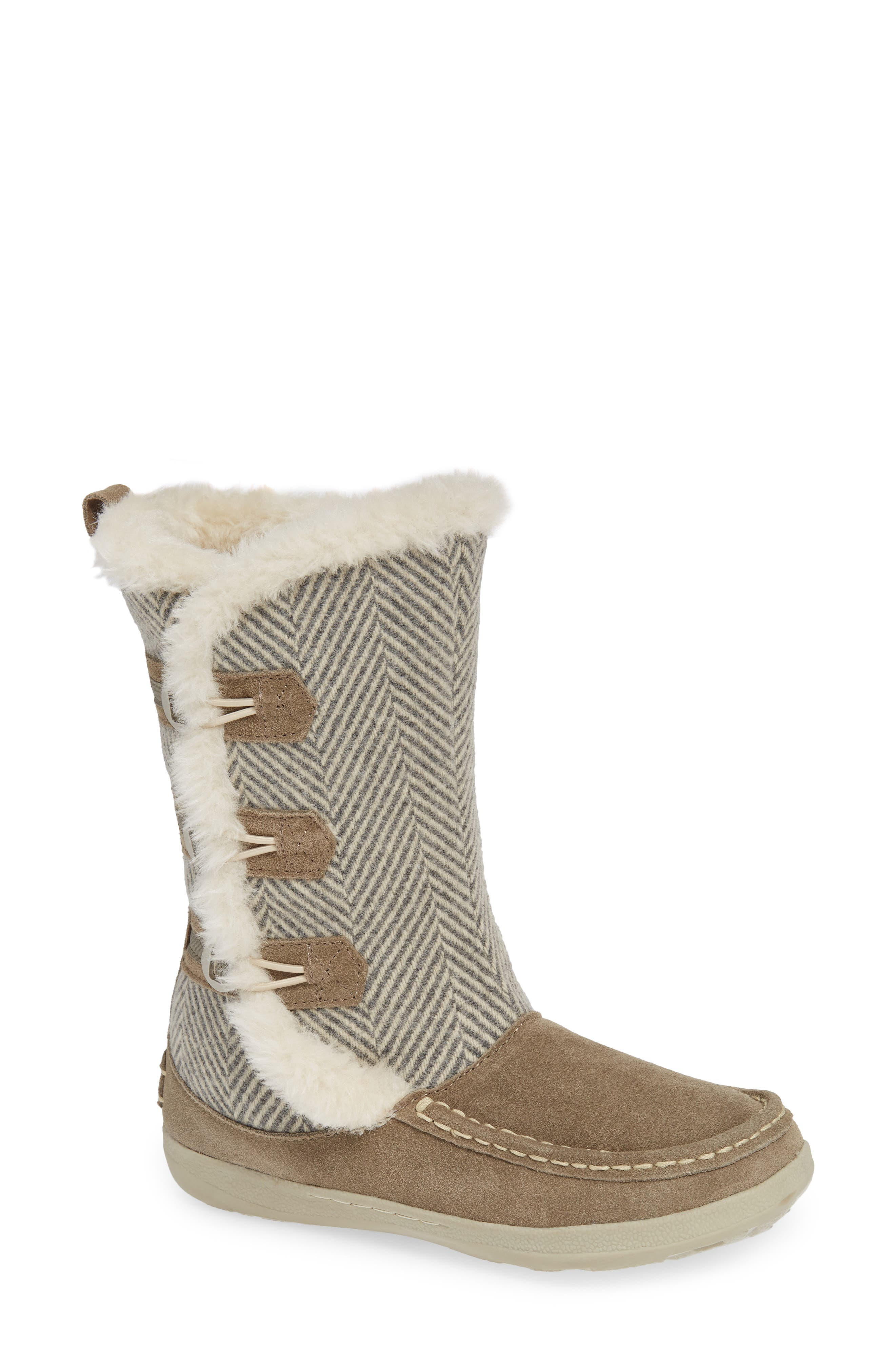 Elk Creek II Boot,                         Main,                         color, STEEL/ HERRINGBONE SUEDE
