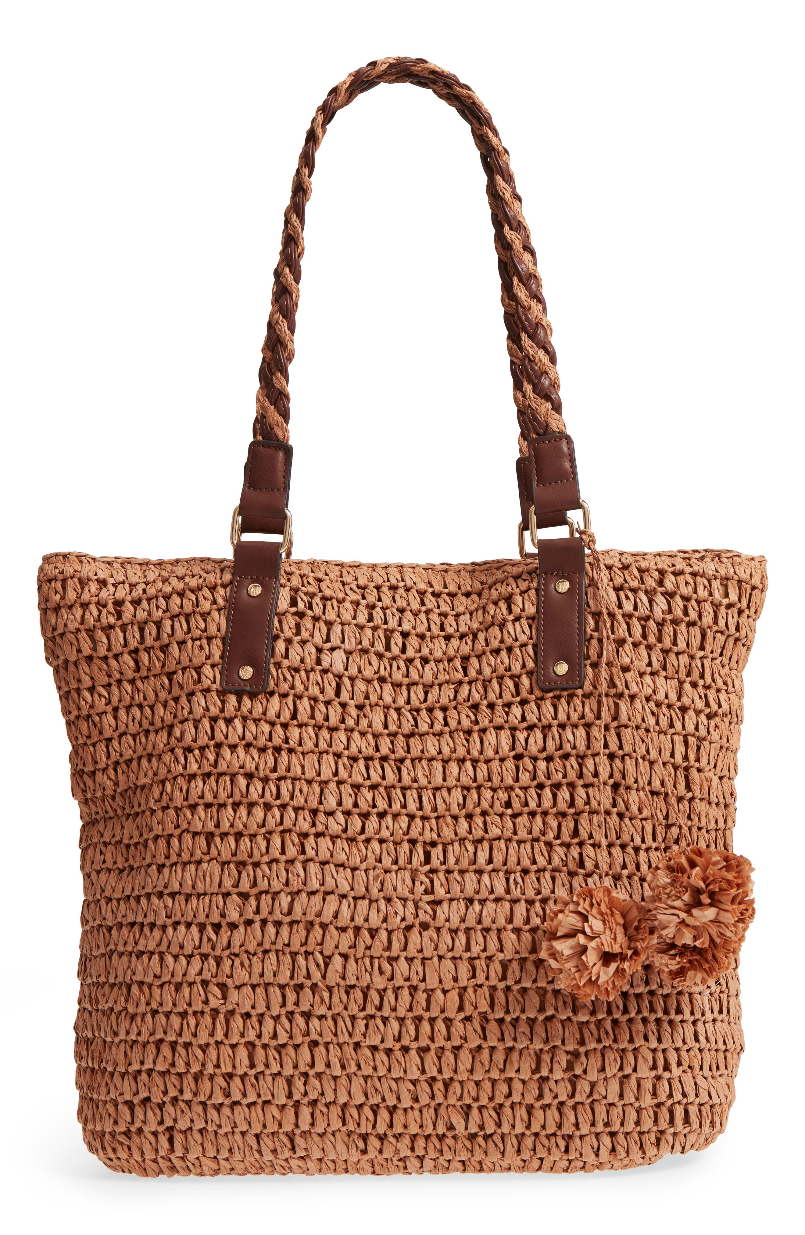 Bahama Mama Straw Tote,                         Main,                         color, 207
