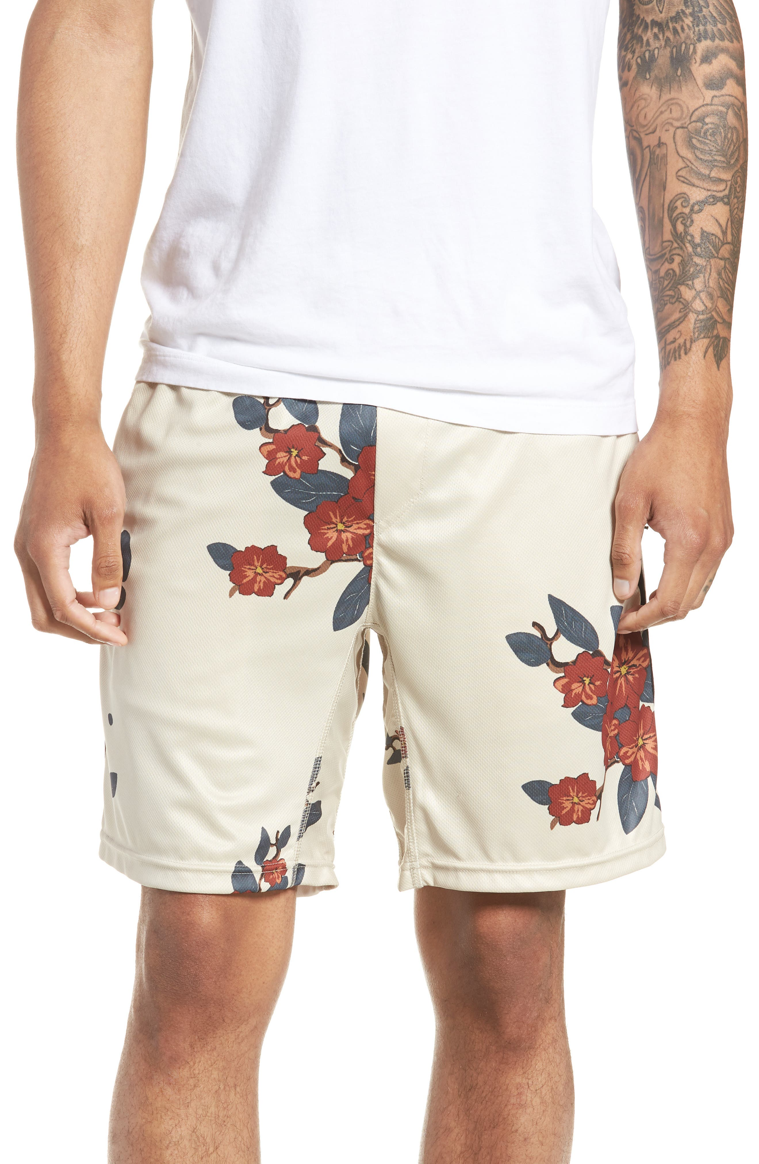 Bloom Sideline Shorts,                             Main thumbnail 1, color,                             NATURAL