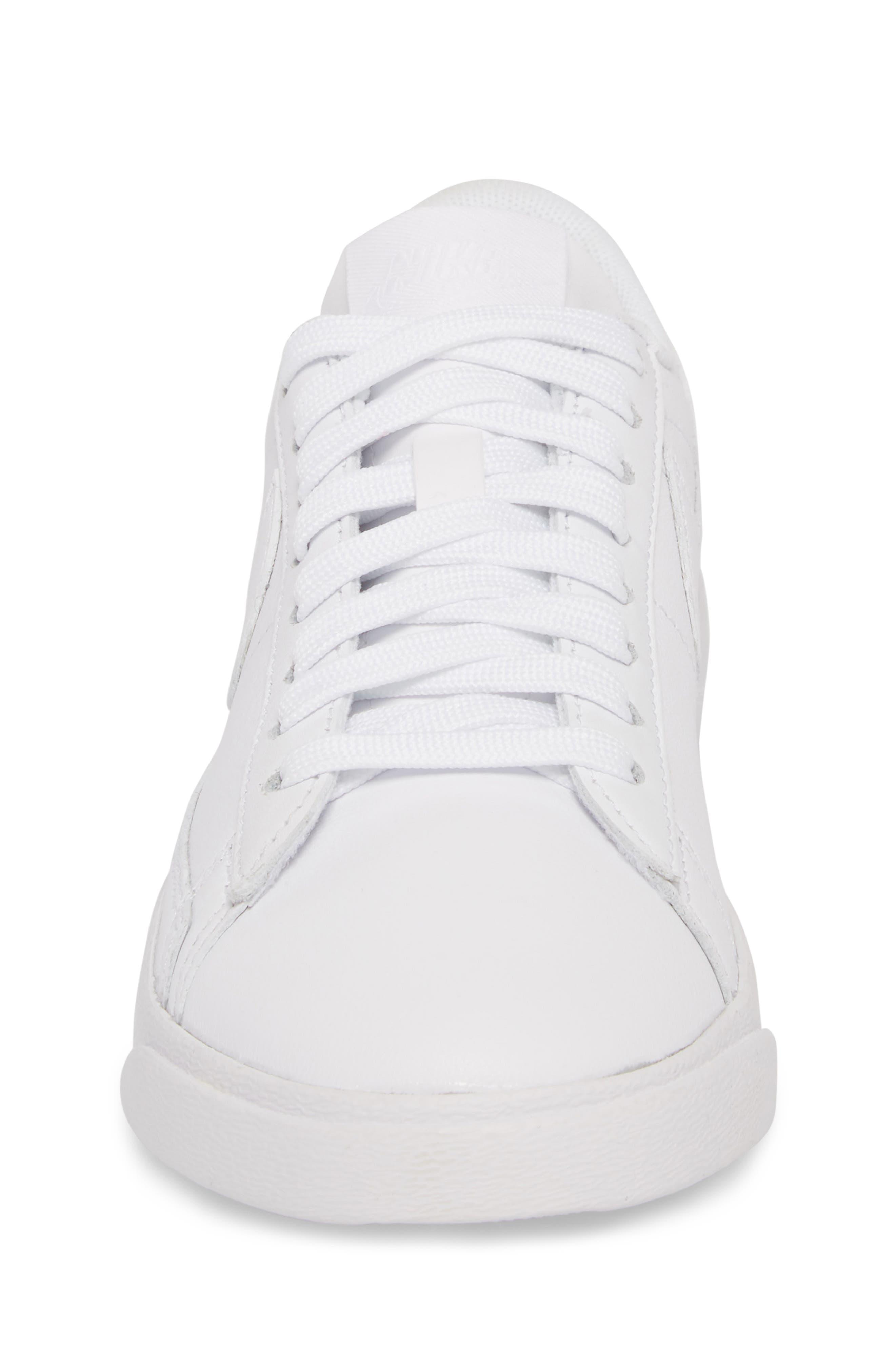 Blazer Low LE Sneaker,                             Alternate thumbnail 4, color,                             WHITE/ WHITE-WHITE