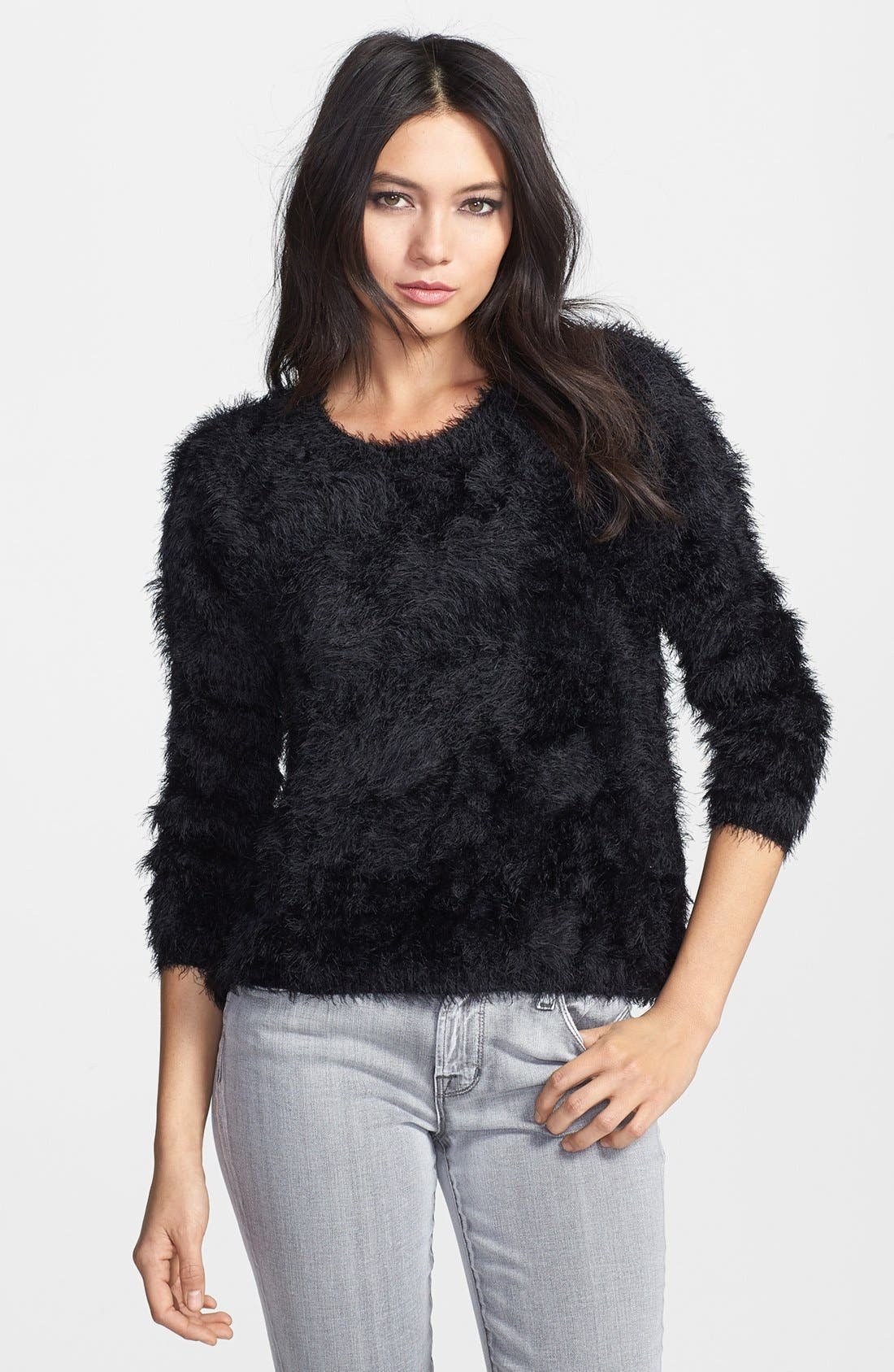 Textured Pullover,                             Main thumbnail 1, color,                             001