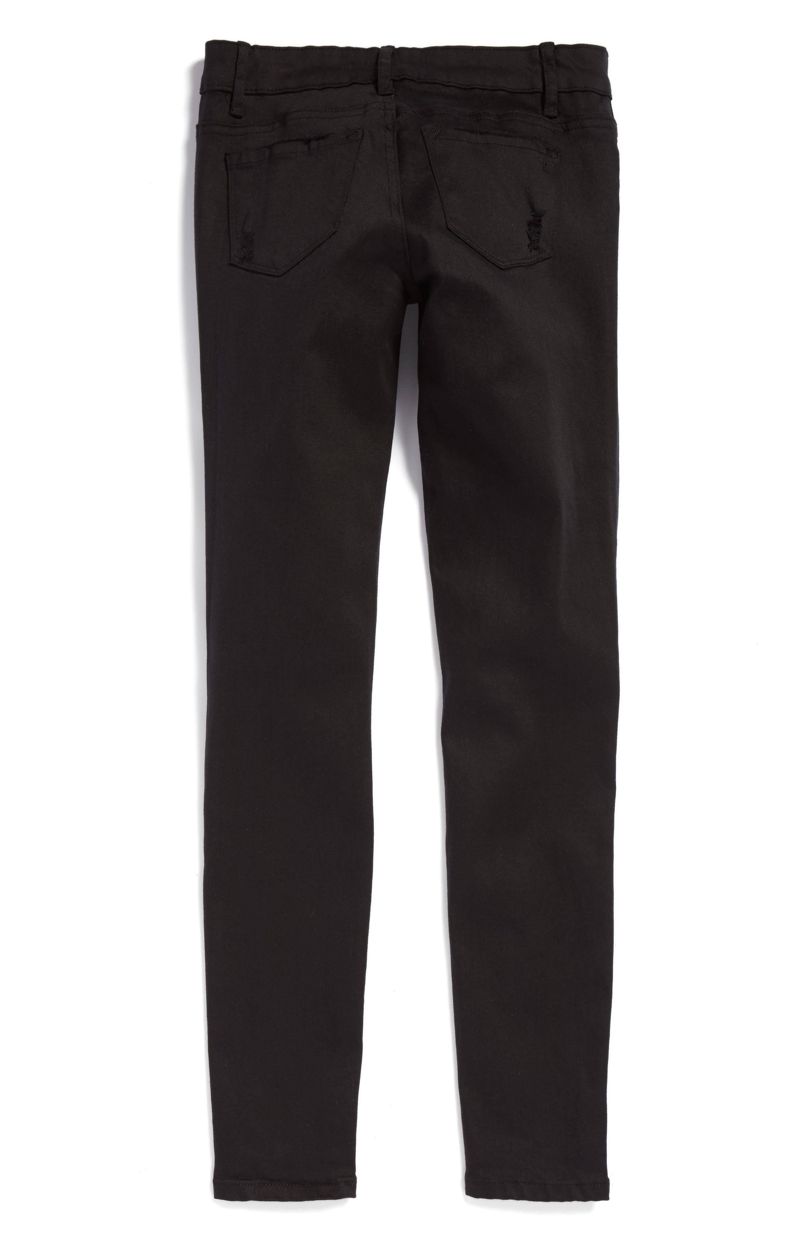 Destructed Skinny Jeans,                             Alternate thumbnail 2, color,                             001
