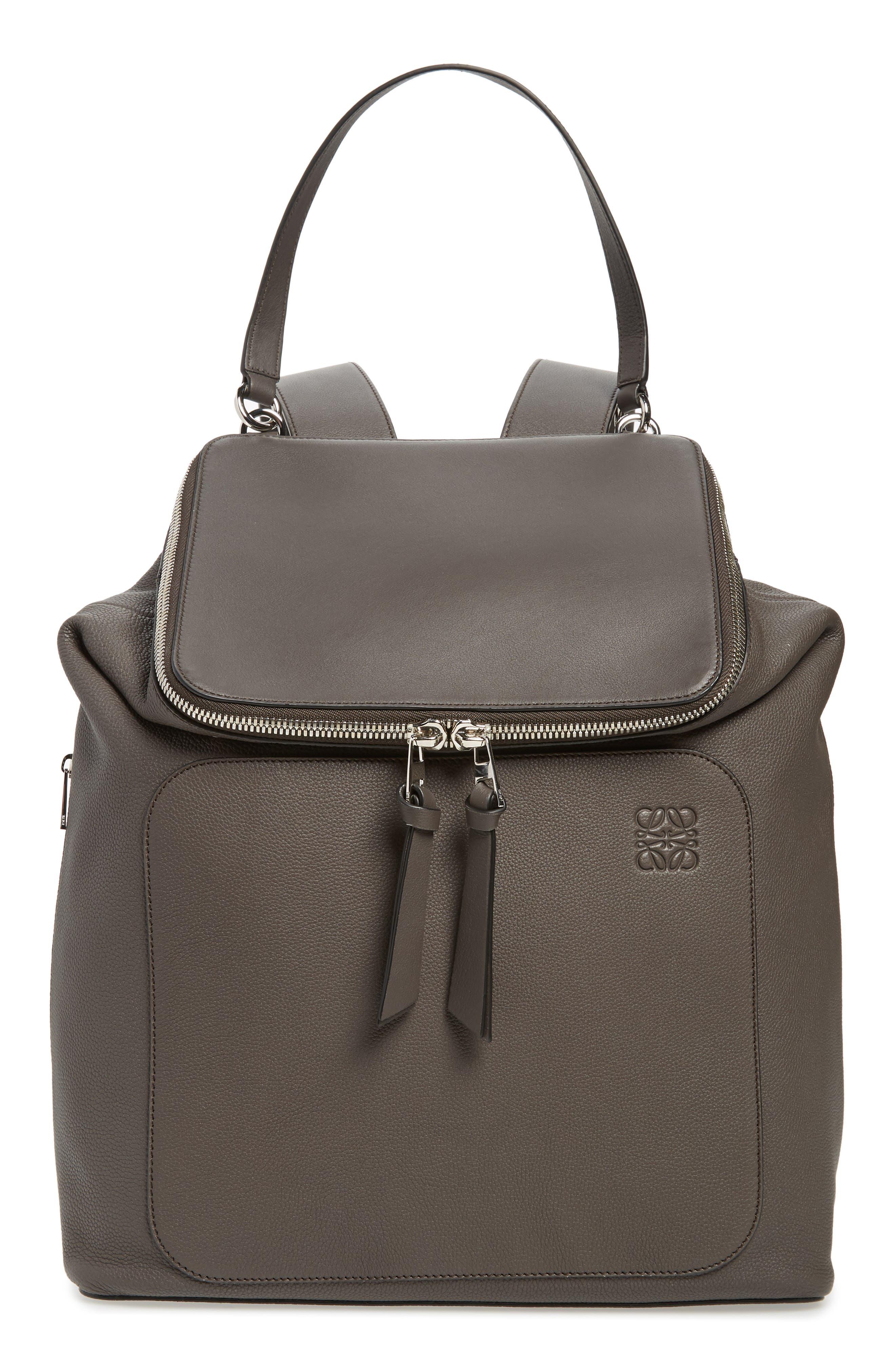 Goya Plaid Calfskin Leather Backpack,                         Main,                         color, 022