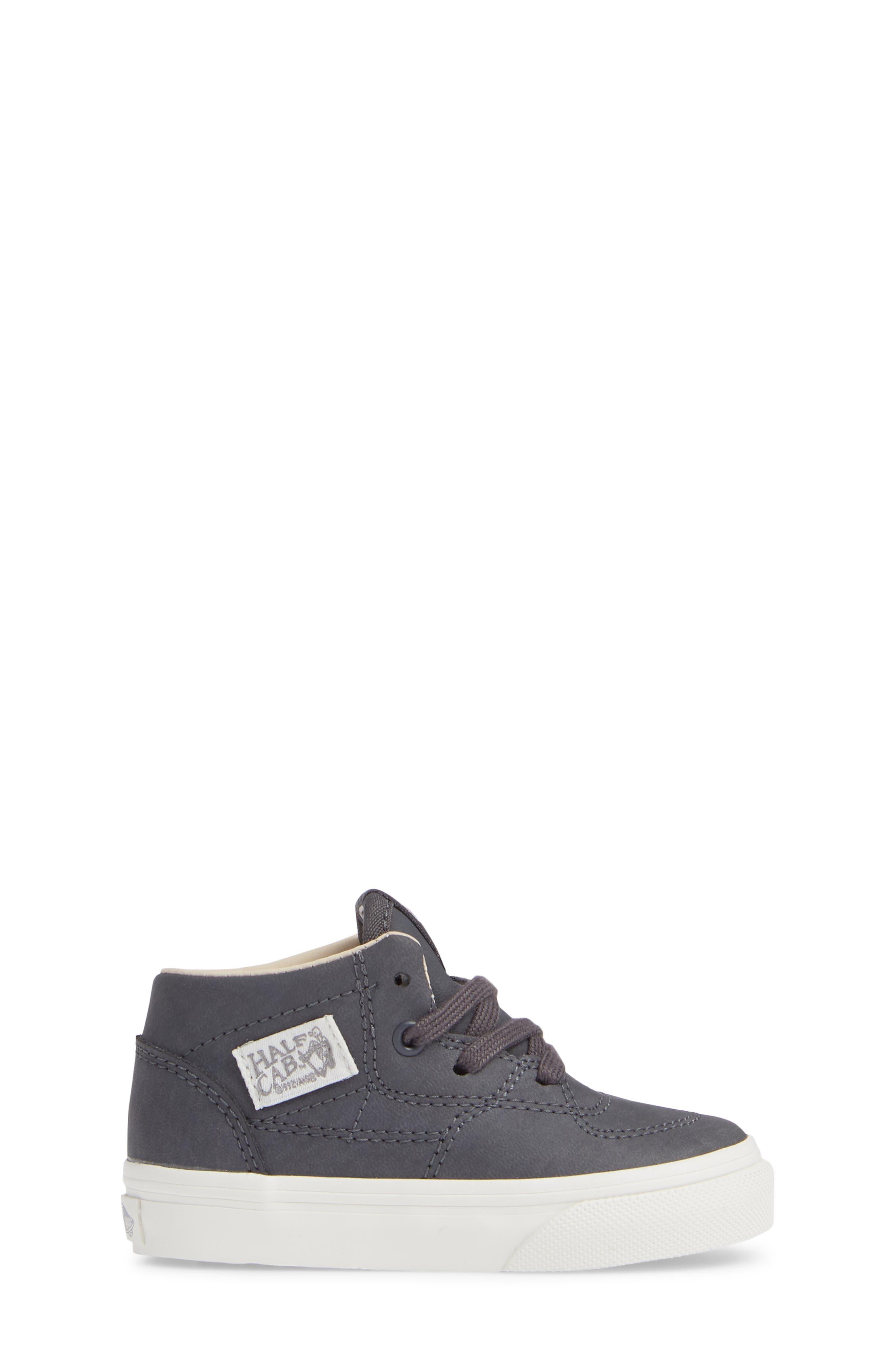 Half Cab Sneaker,                             Alternate thumbnail 3, color,                             VANSBUCK ASPHALT/ BLANC