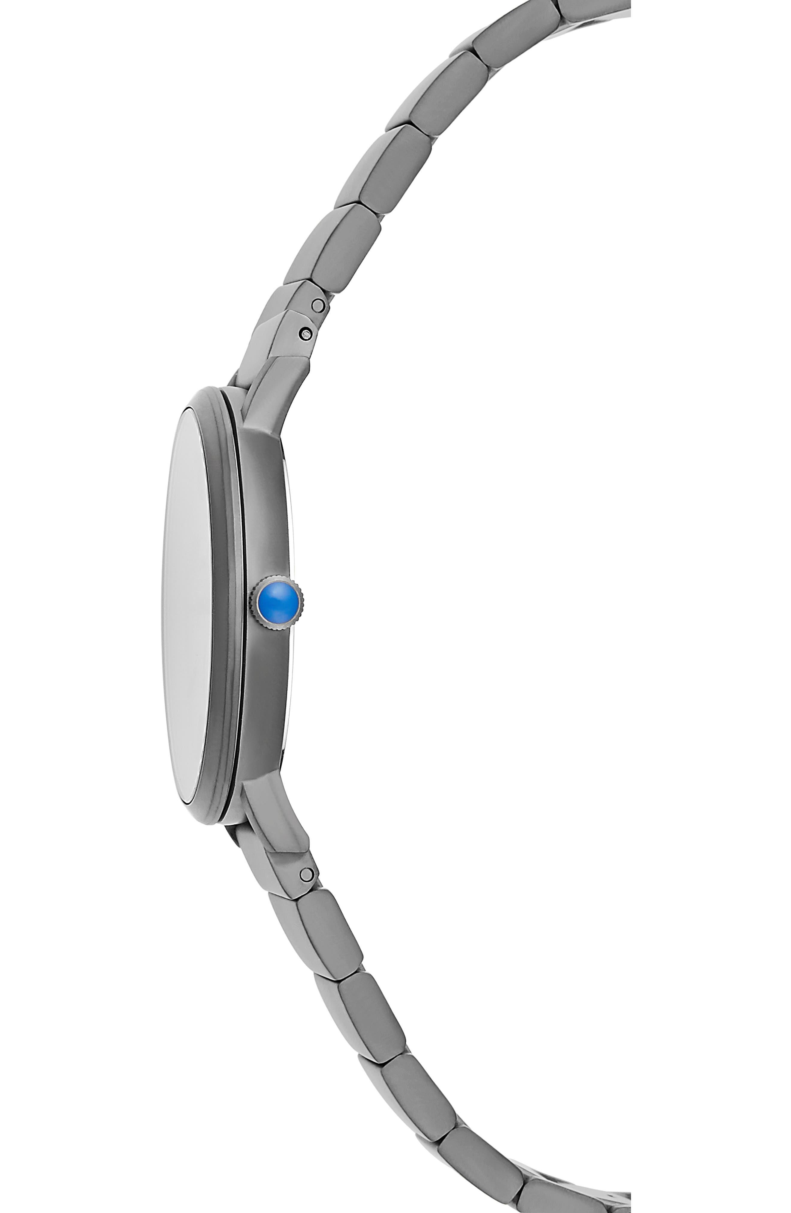 Norrebro Bracelet Watch, 40mm,                             Alternate thumbnail 3, color,                             GREY