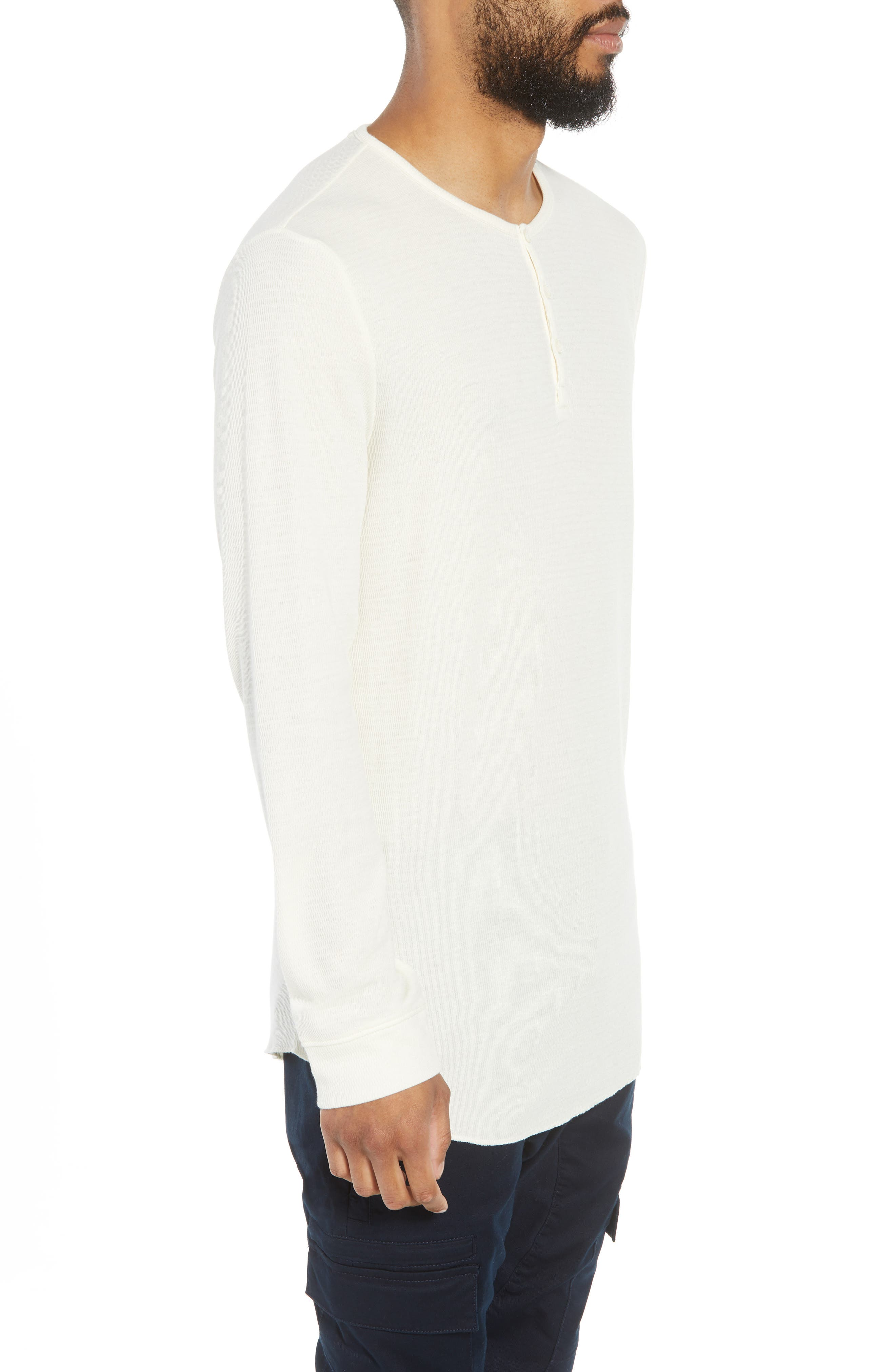 Longline Thermal Henley,                             Alternate thumbnail 3, color,                             900
