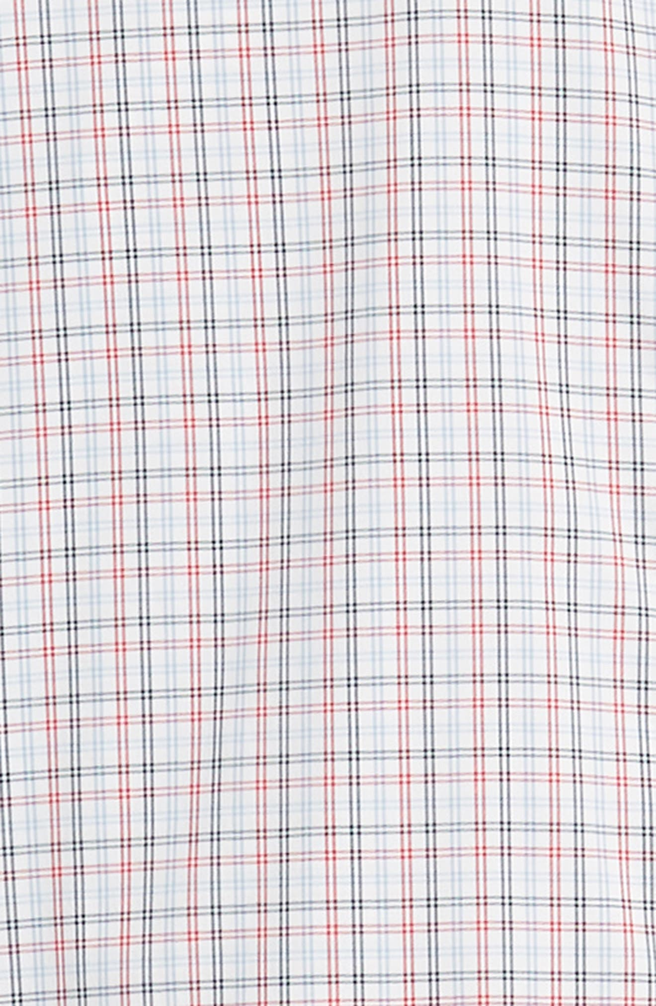 Slim Fit Check Performance Sport Shirt,                             Alternate thumbnail 6, color,                             HILLGROVE CHECK - CERISE