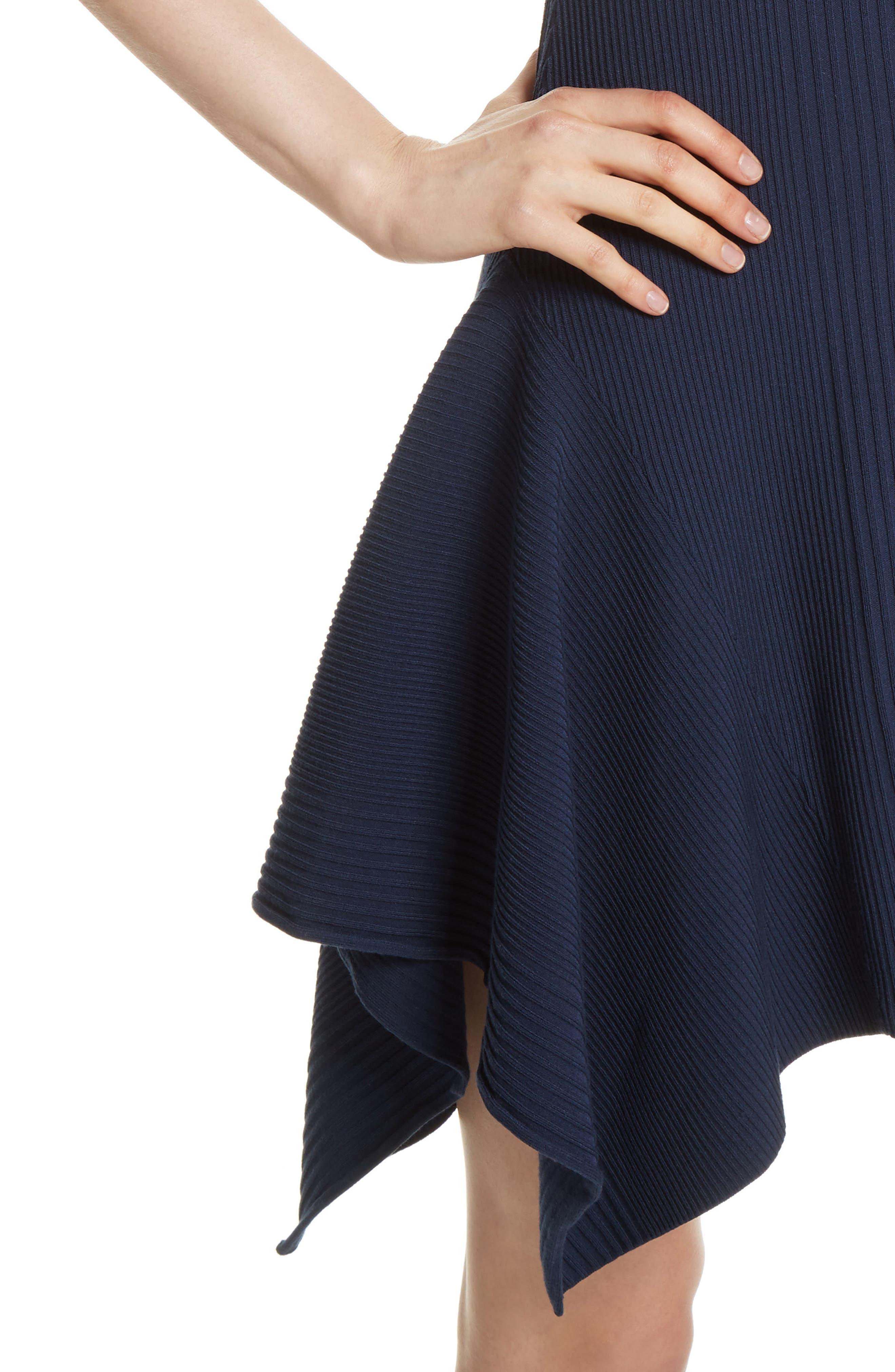 Delta Rib Knit Dress,                             Alternate thumbnail 4, color,                             401