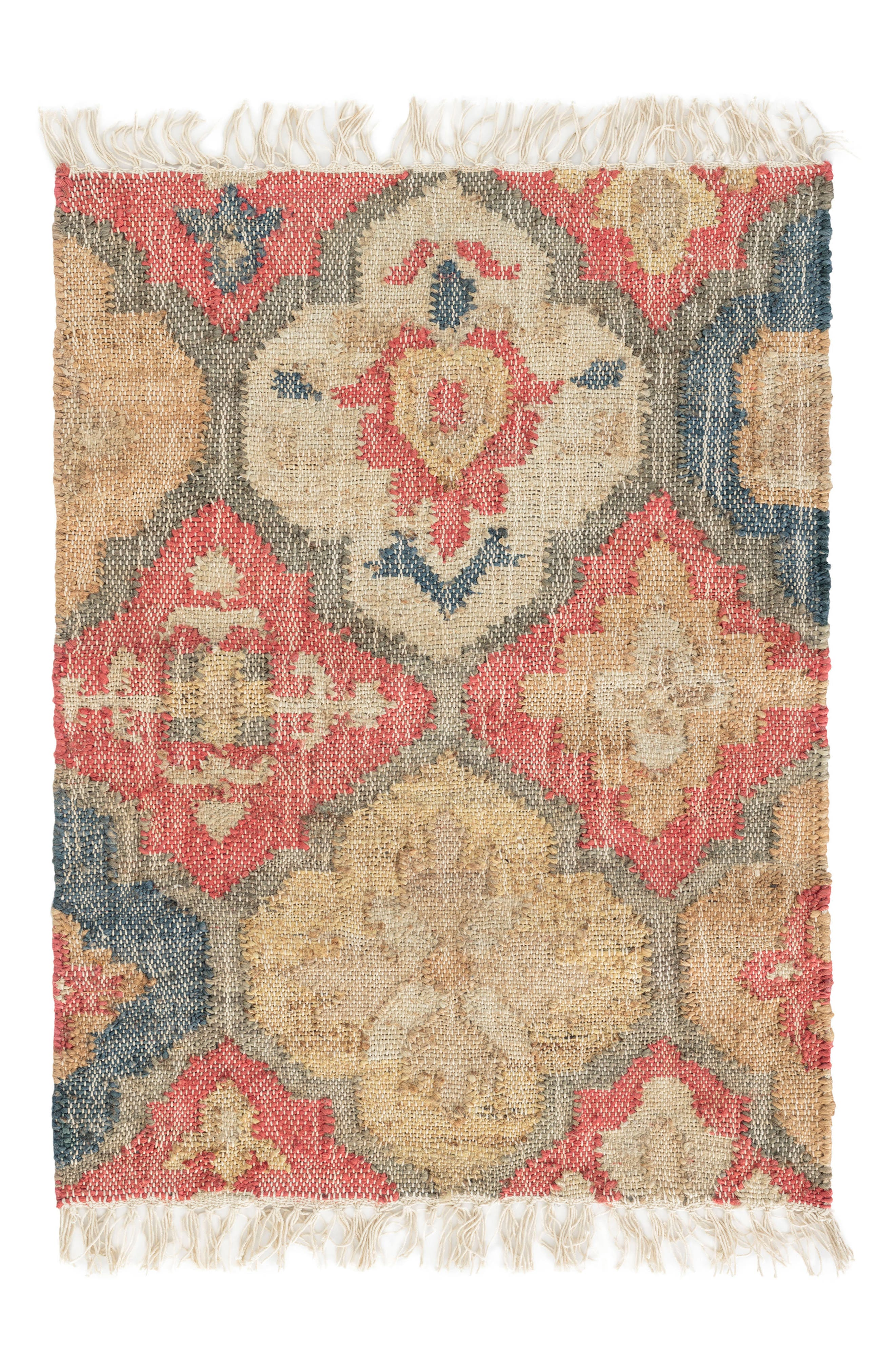 Pali Woven Rug,                         Main,                         color, RED